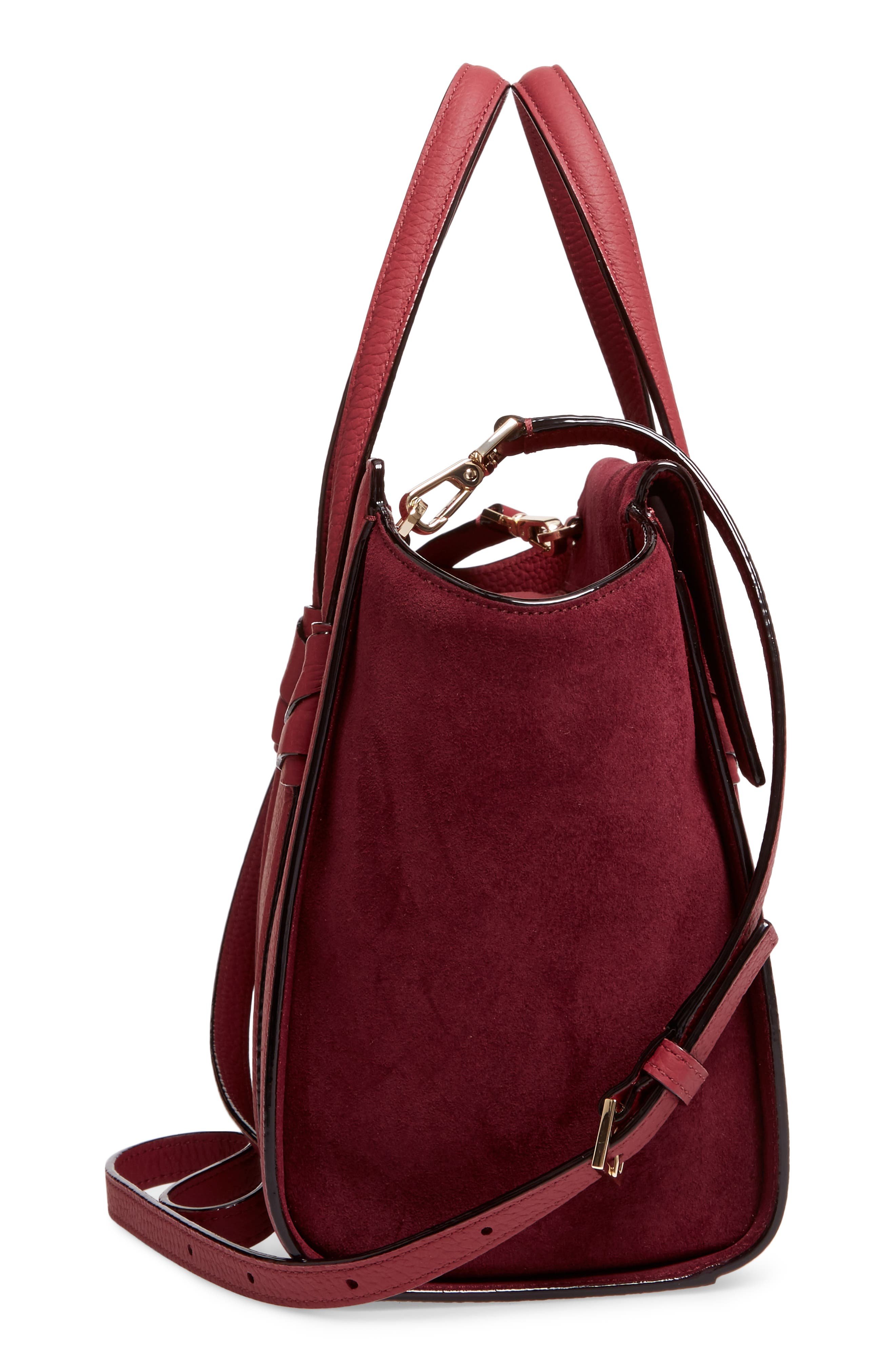 daniels drive - small abigail suede & leather tote,                             Alternate thumbnail 5, color,                             633