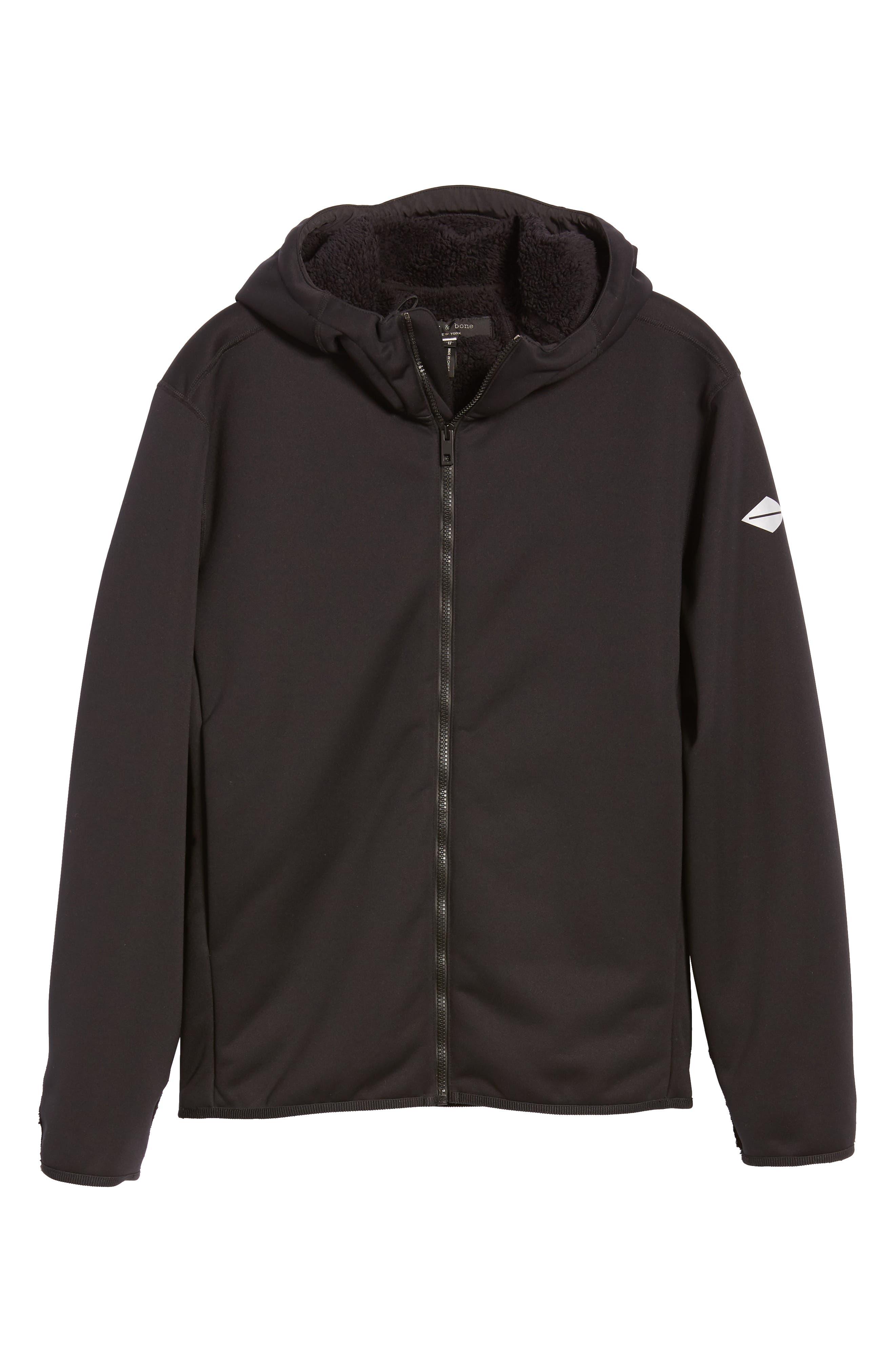 Tactic Hooded Fleece Jacket,                             Alternate thumbnail 6, color,                             BLACK