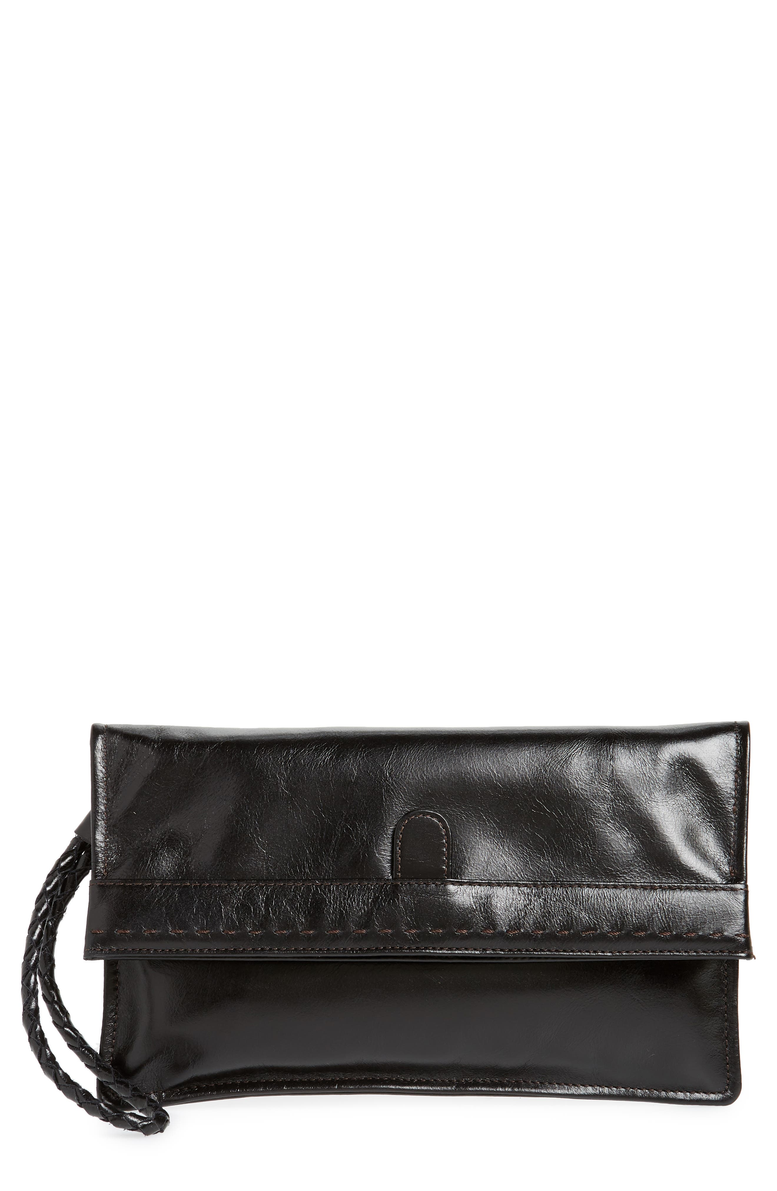 Arbor Leather Wristlet Clutch,                         Main,                         color, 001