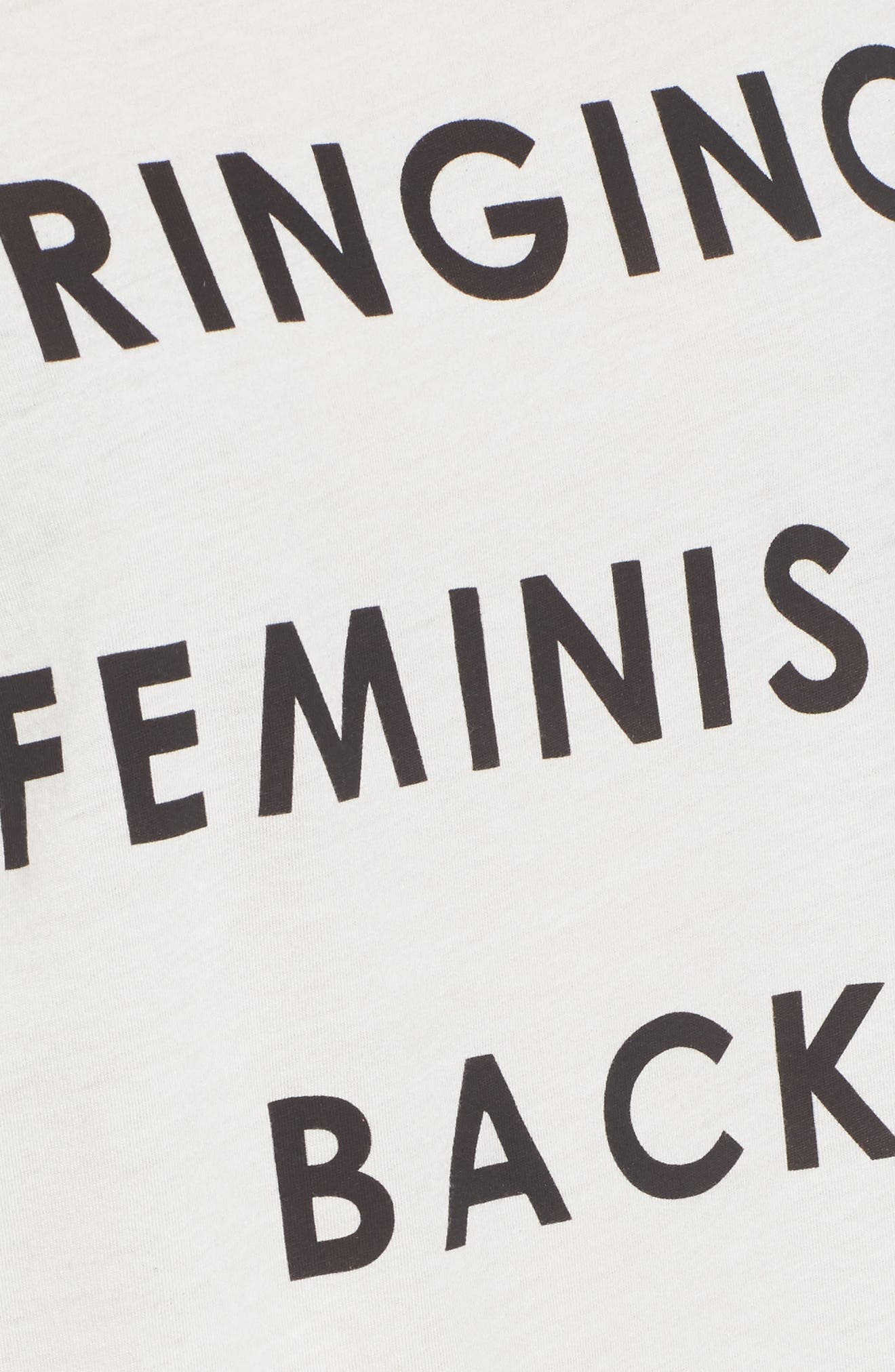 Bringing Feminism Back Tee,                             Alternate thumbnail 5, color,                             VINTAGE WHITE