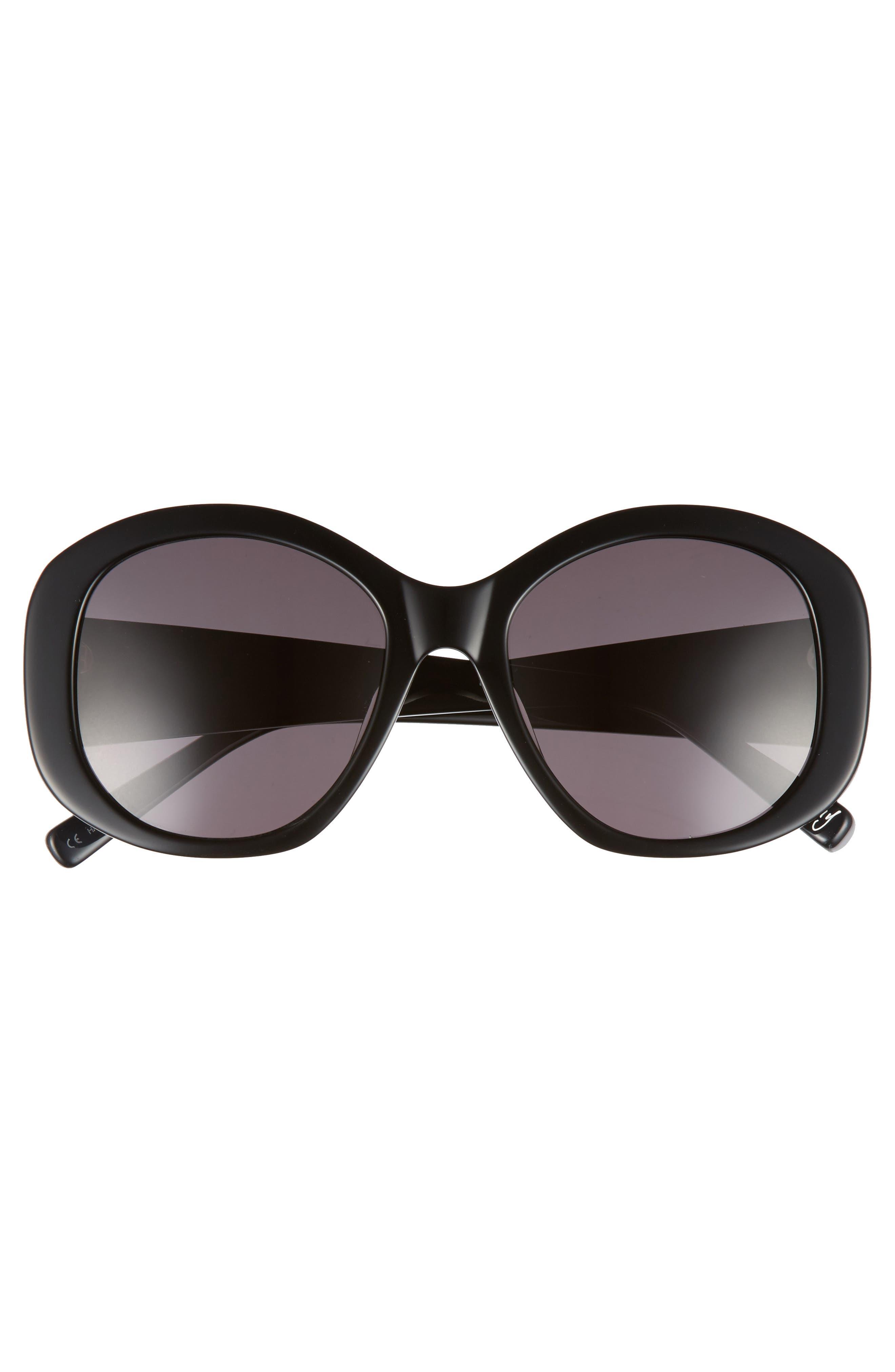 Kay 54mm Round Sunglasses,                             Alternate thumbnail 3, color,                             001