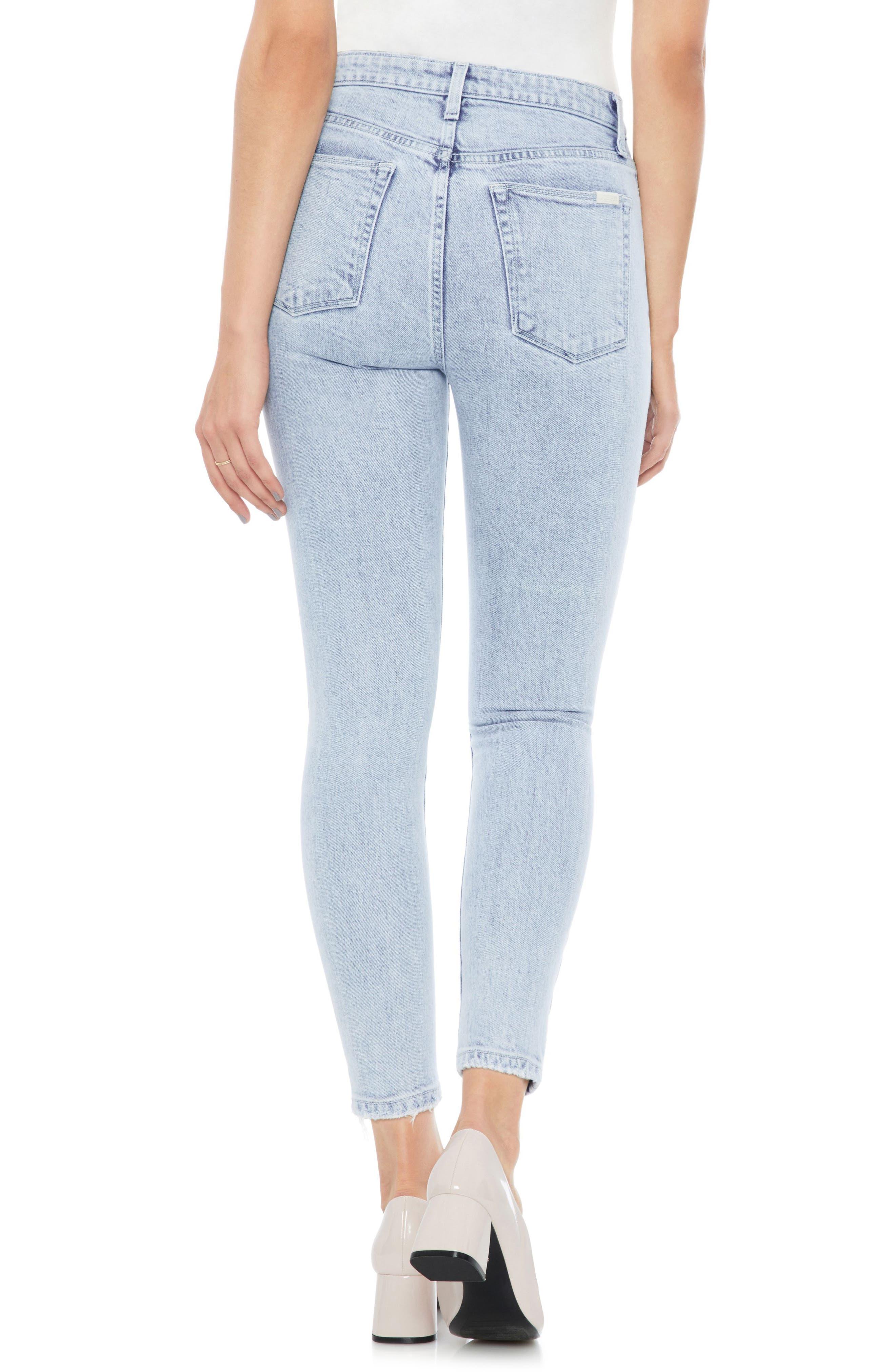 Bella High Waist Crop Skinny Jeans,                             Alternate thumbnail 2, color,                             450