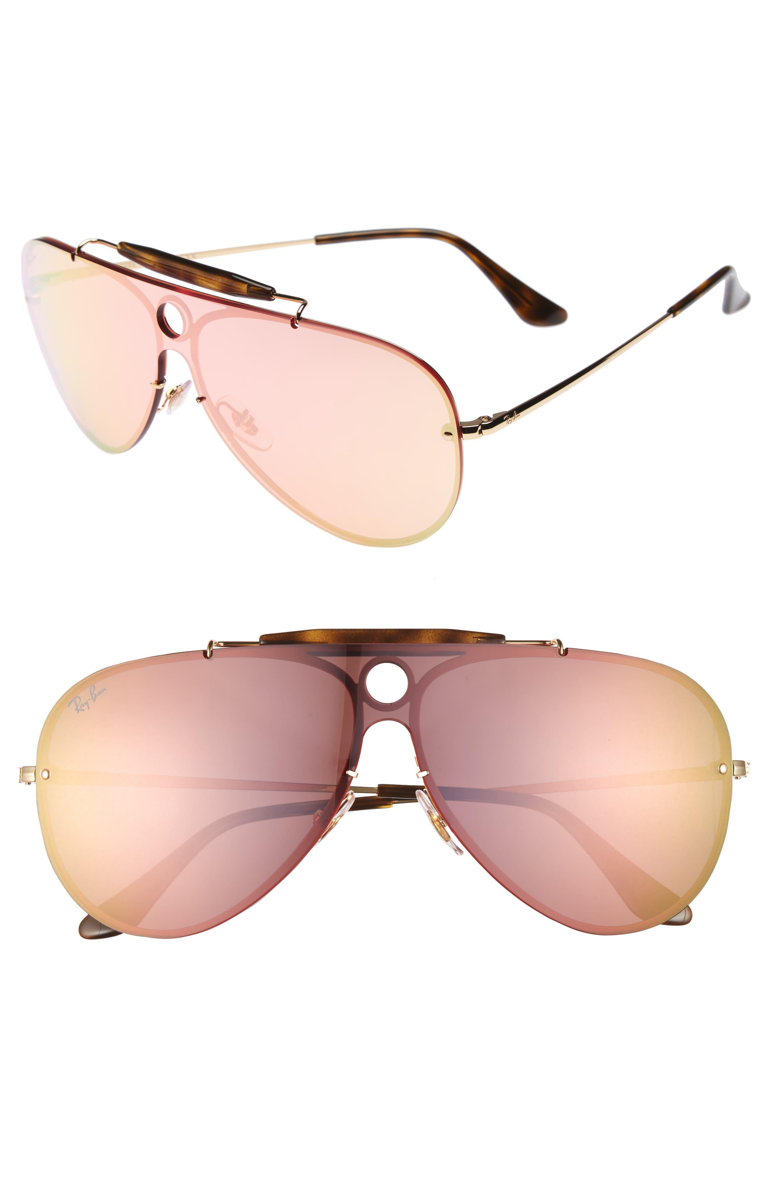 Aviator Shield Sunglasses,                             Main thumbnail 3, color,