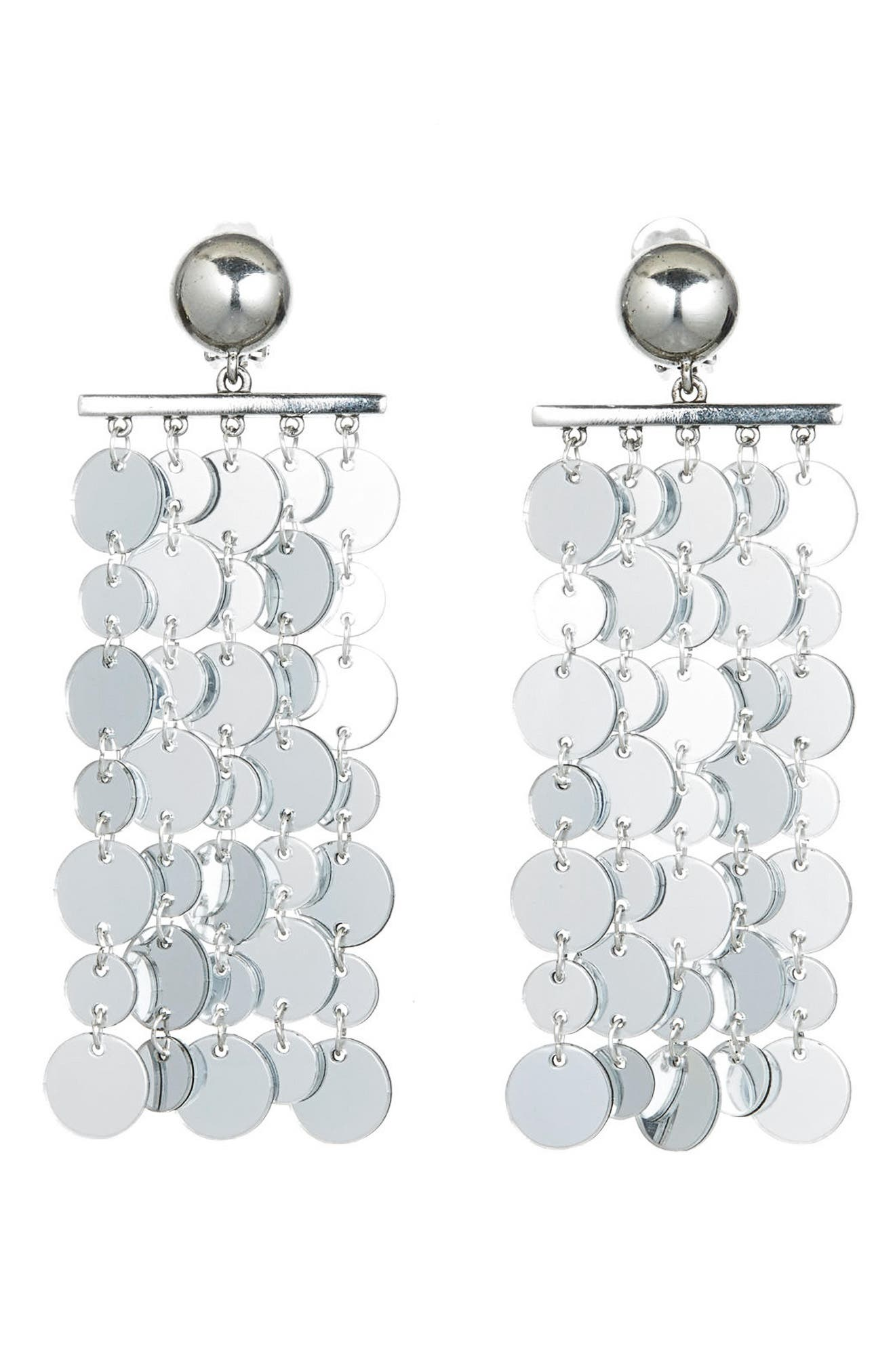 Hammered Disc Clip Earrings,                         Main,                         color, 040