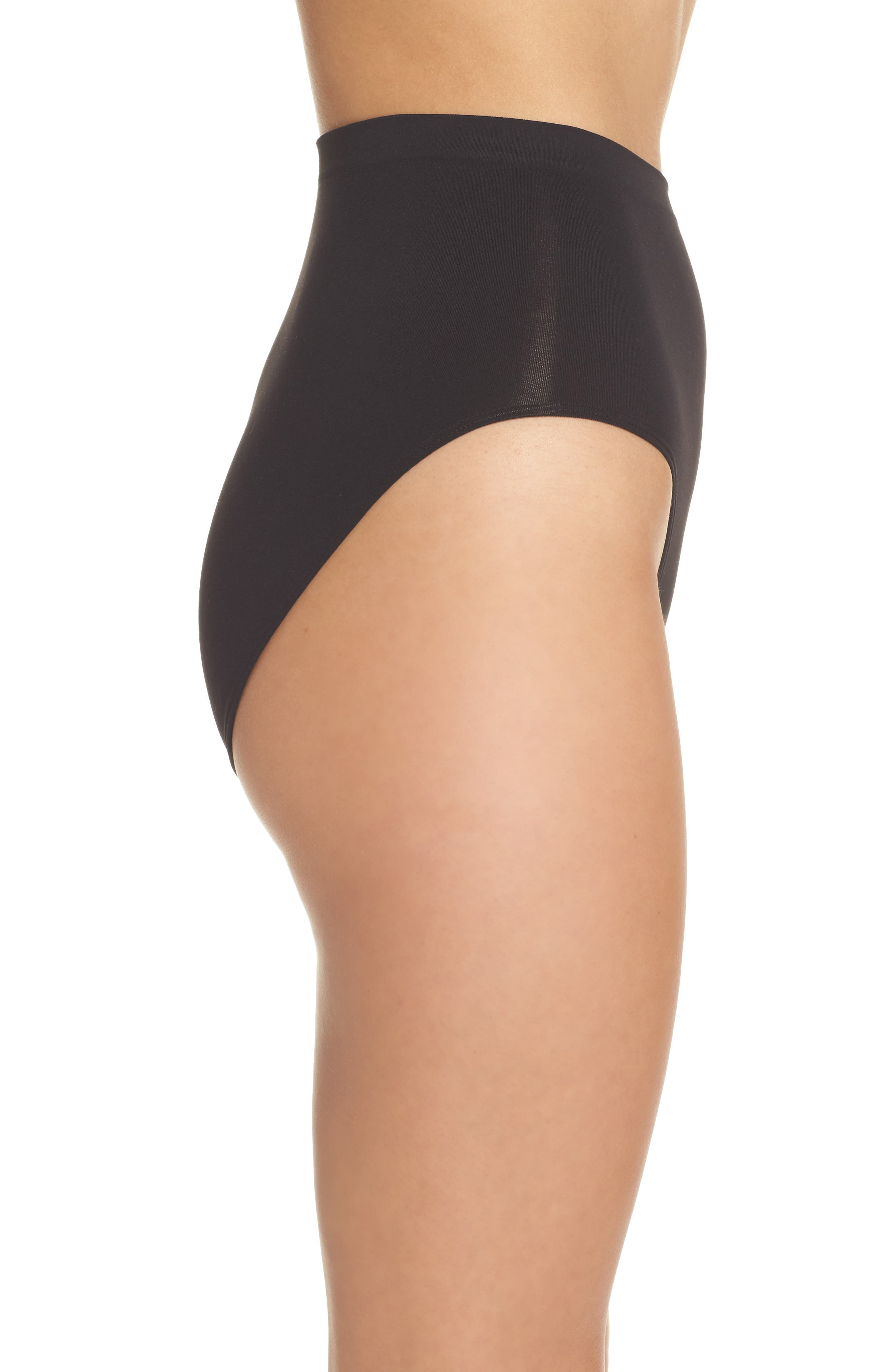 HALOGEN<SUP>®</SUP>,                             High Waist Seamless Briefs,                             Alternate thumbnail 3, color,                             BLACK