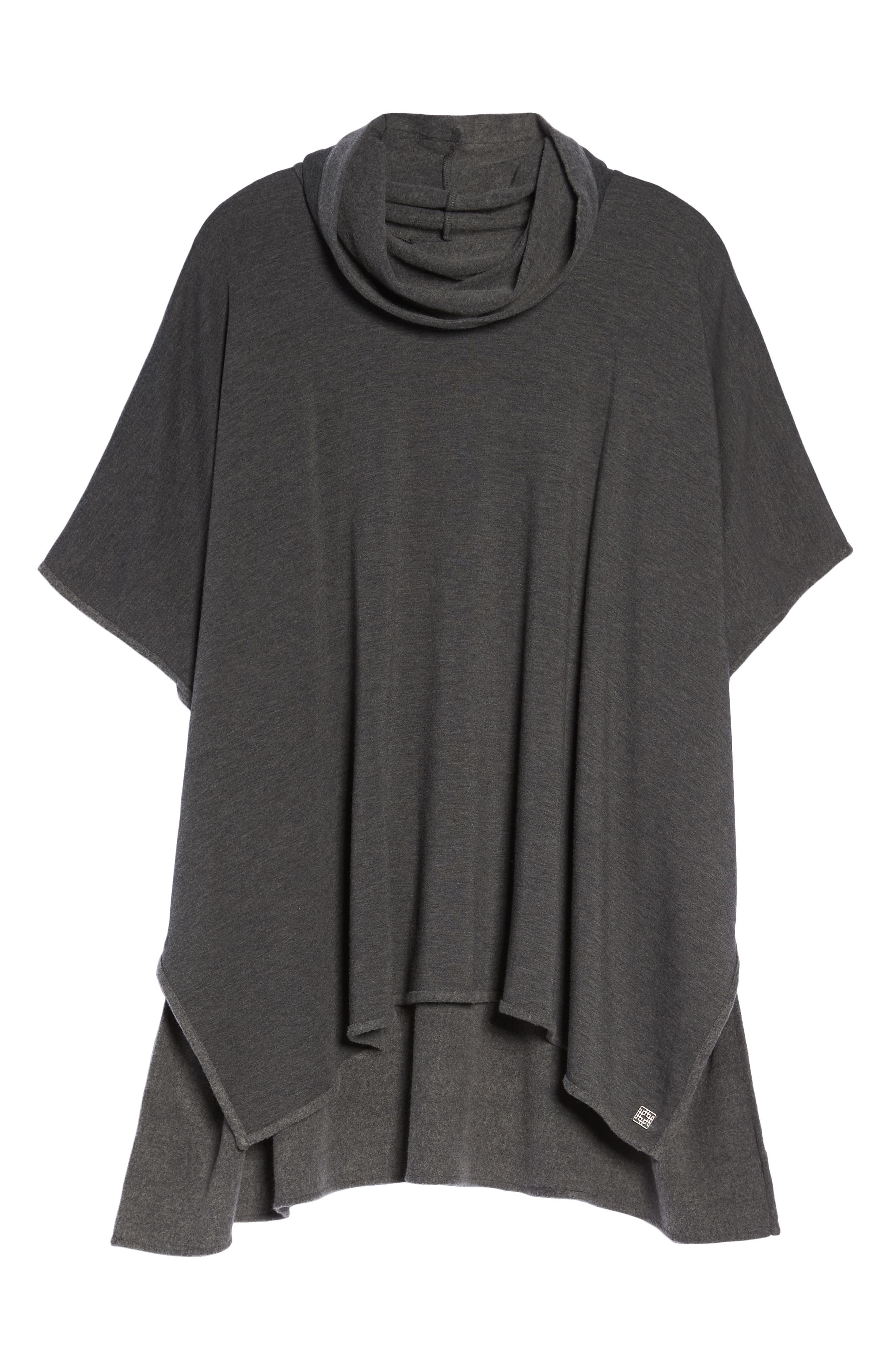 Brushed Jersey Poncho,                             Alternate thumbnail 12, color,