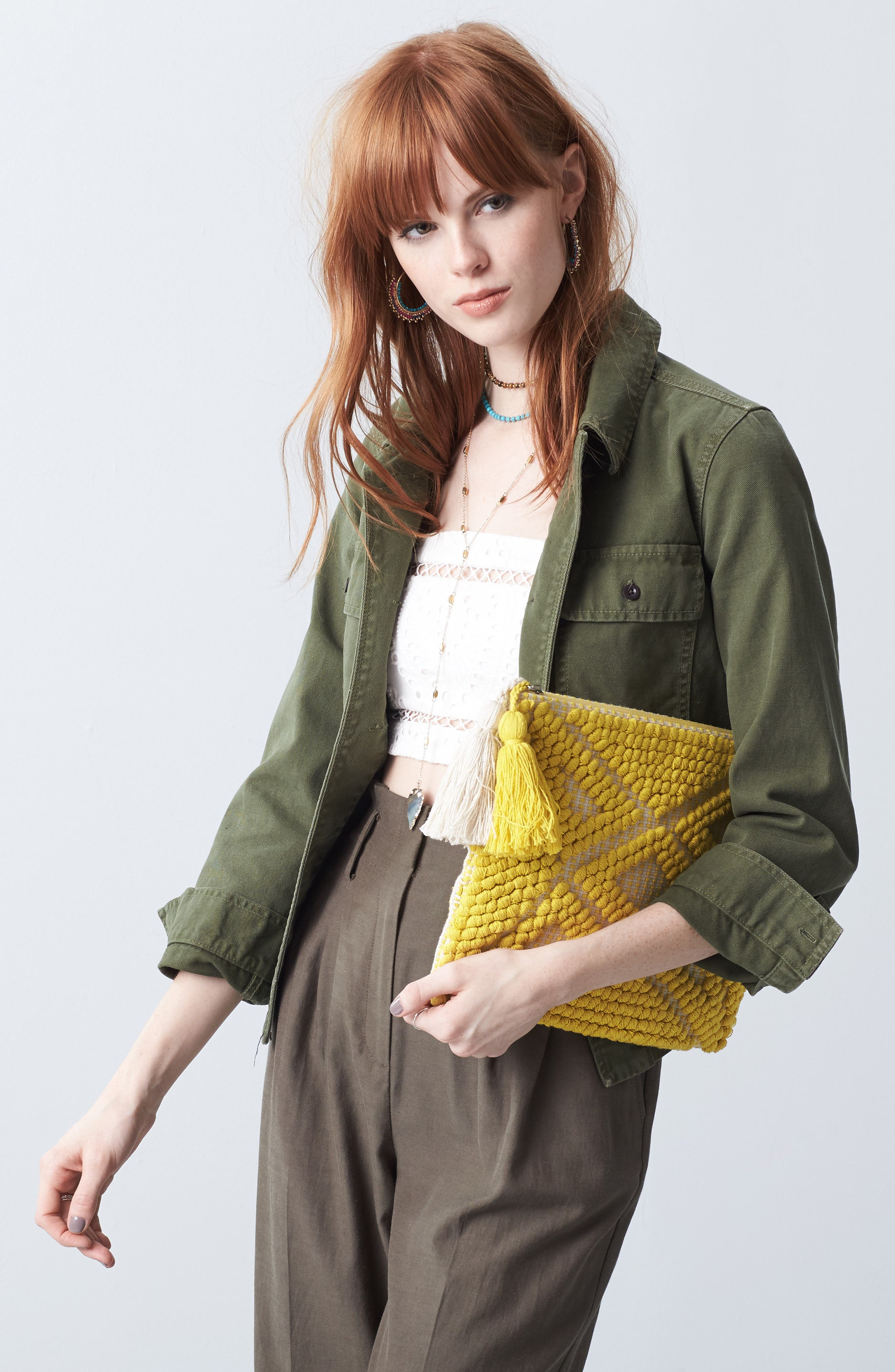 Palisades Tasseled Woven Clutch,                             Alternate thumbnail 30, color,