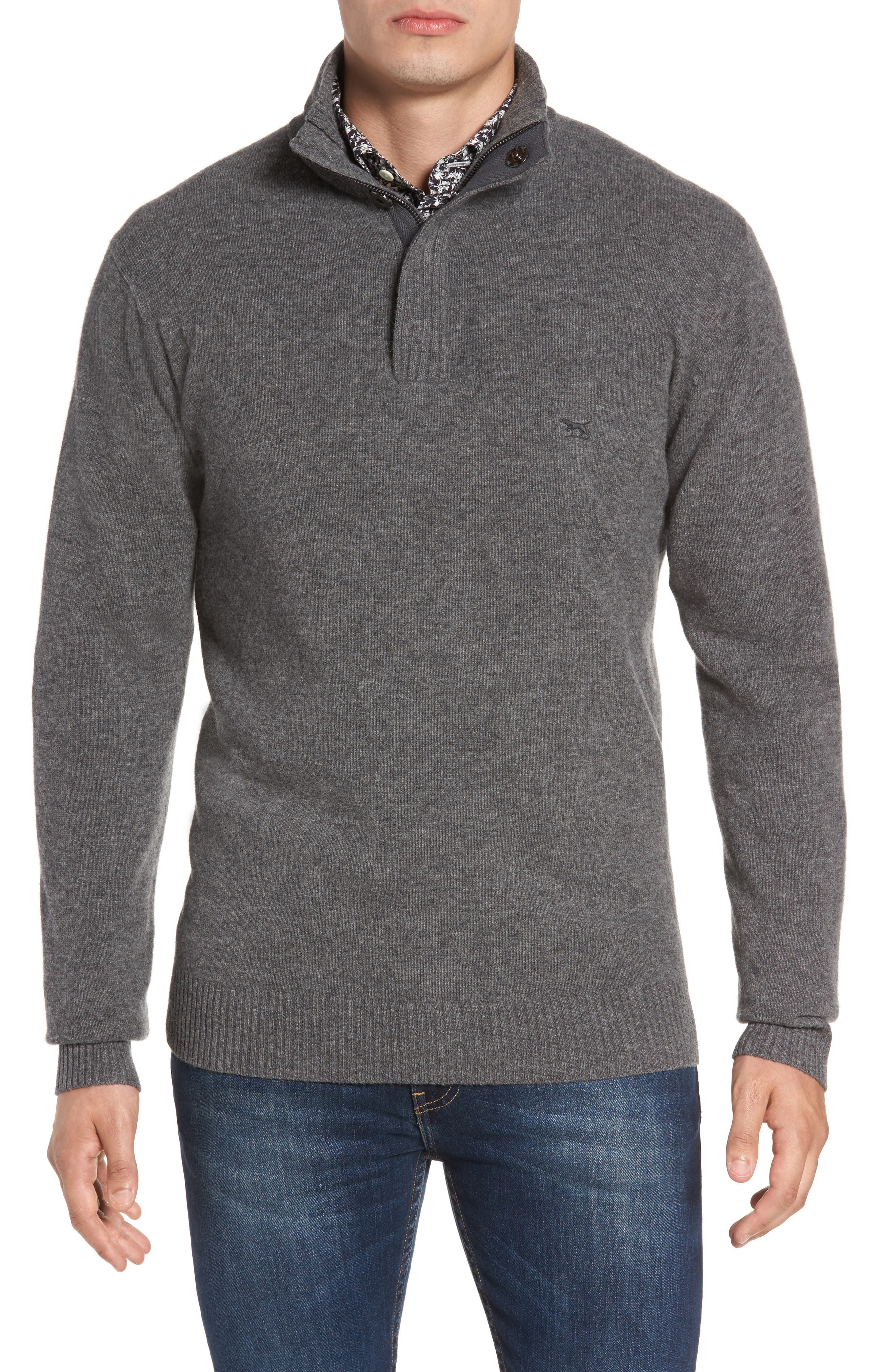 Cape Rodney Lambswool Pullover,                         Main,                         color, CHARCOAL