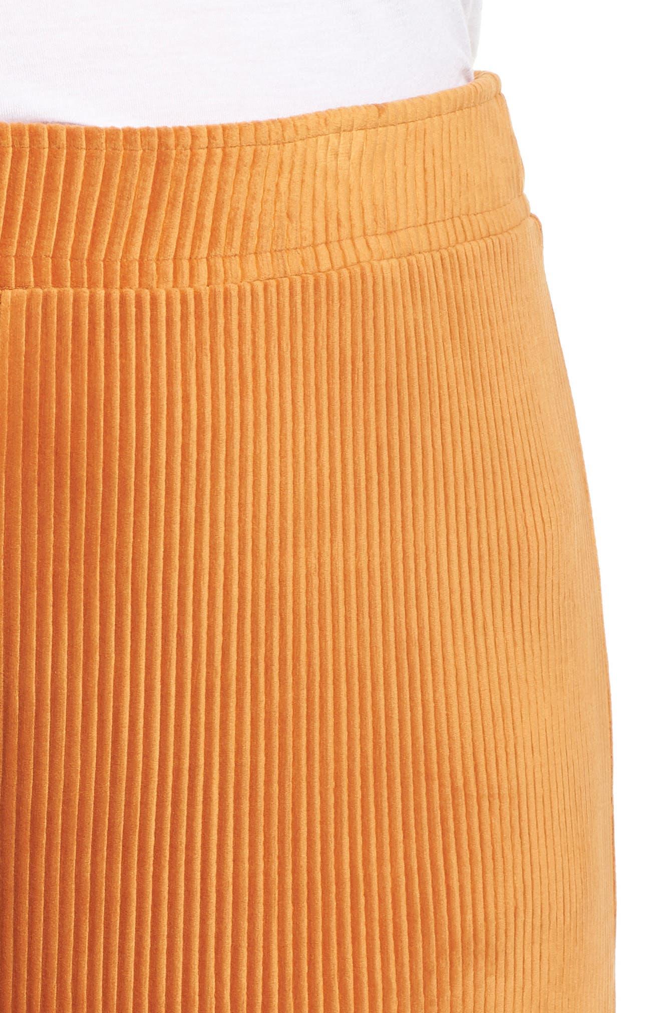 High Rise Knit Corduroy Crop Pants,                             Alternate thumbnail 11, color,                             RUST CIDER