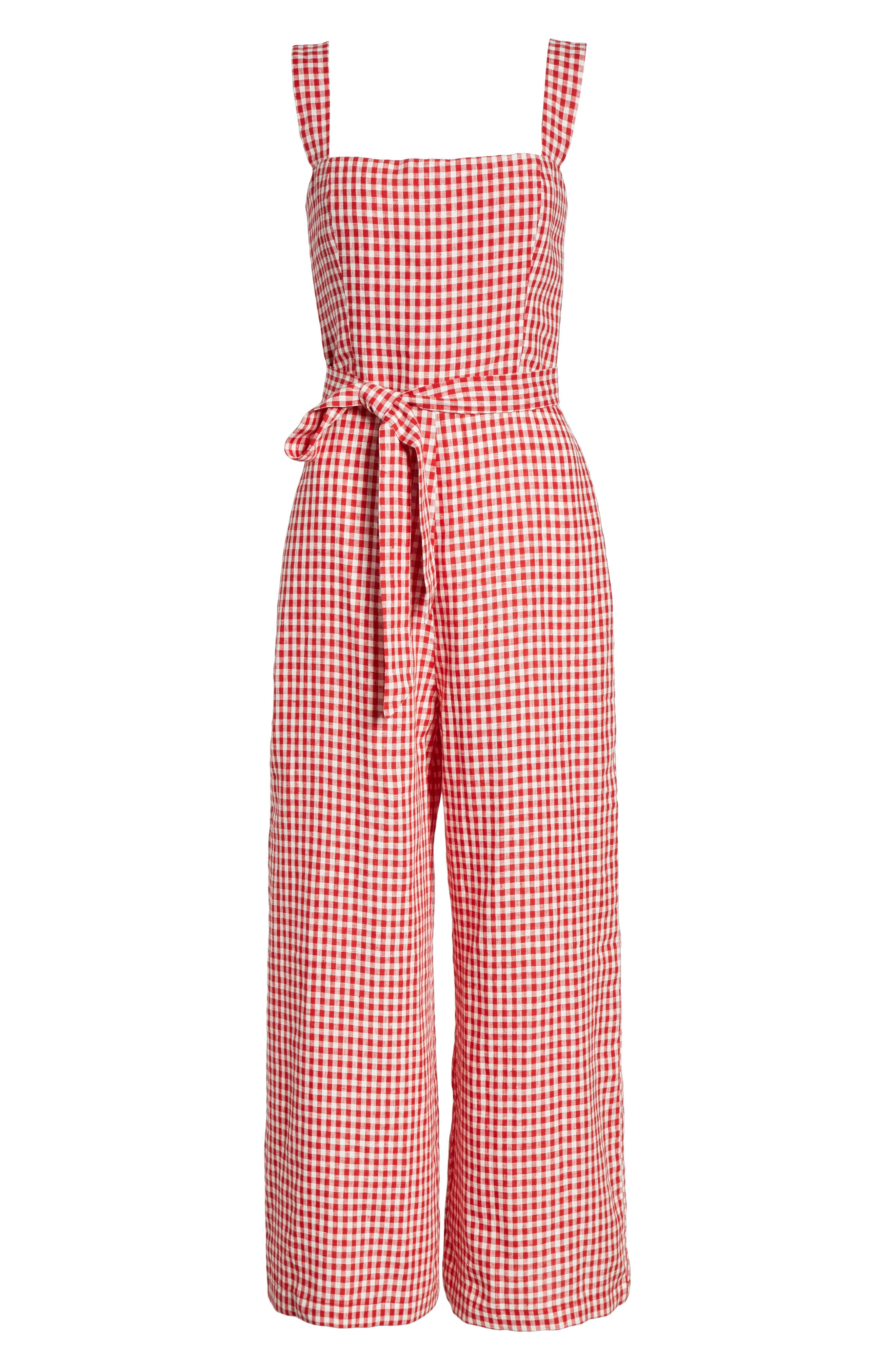 Birch Jumpsuit,                             Alternate thumbnail 6, color,                             MAY CHECK