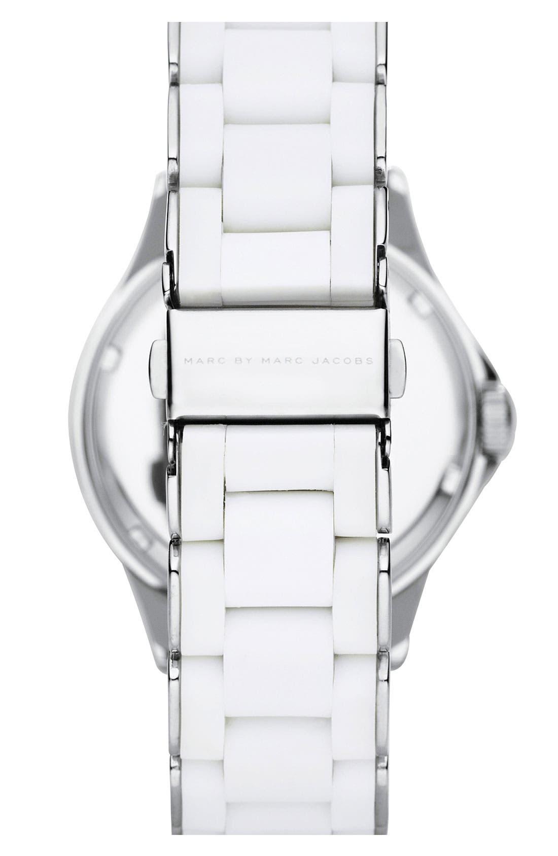 'Rock' Chronograph Silicone Bracelet Watch, 40mm,                             Alternate thumbnail 25, color,