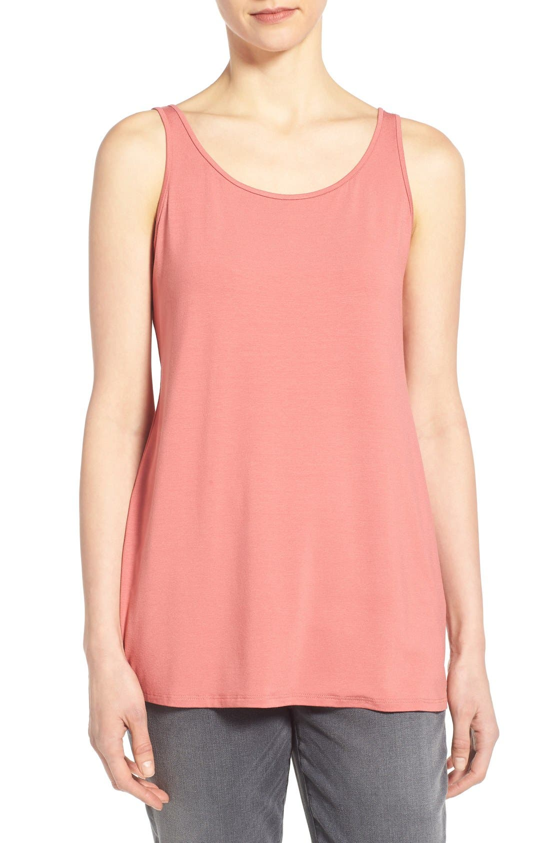 Jersey Scoop Neck Long Tank,                             Main thumbnail 24, color,