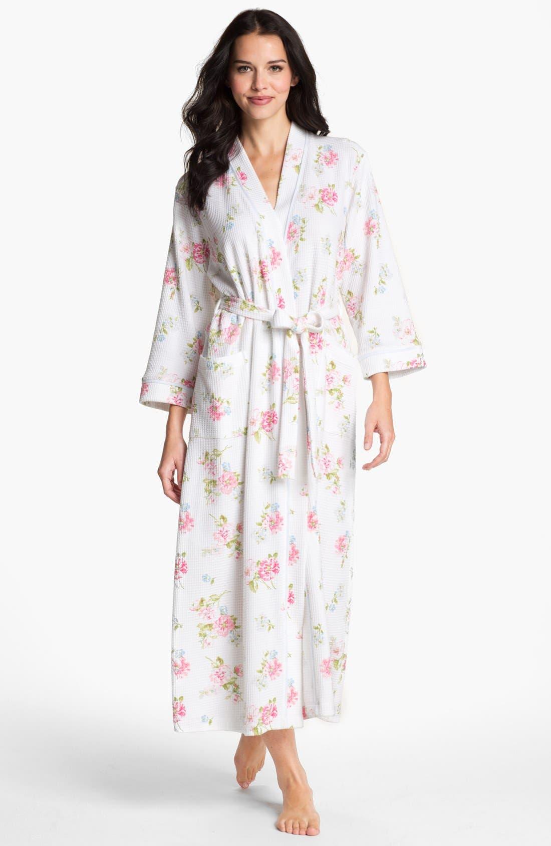 CAROLE HOCHMAN Designs Long Floral Print Robe, Main, color, 113