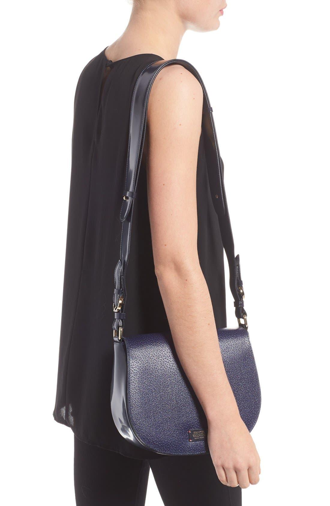 'Small Ellen' Leather Shoulder Bag,                             Alternate thumbnail 3, color,                             400