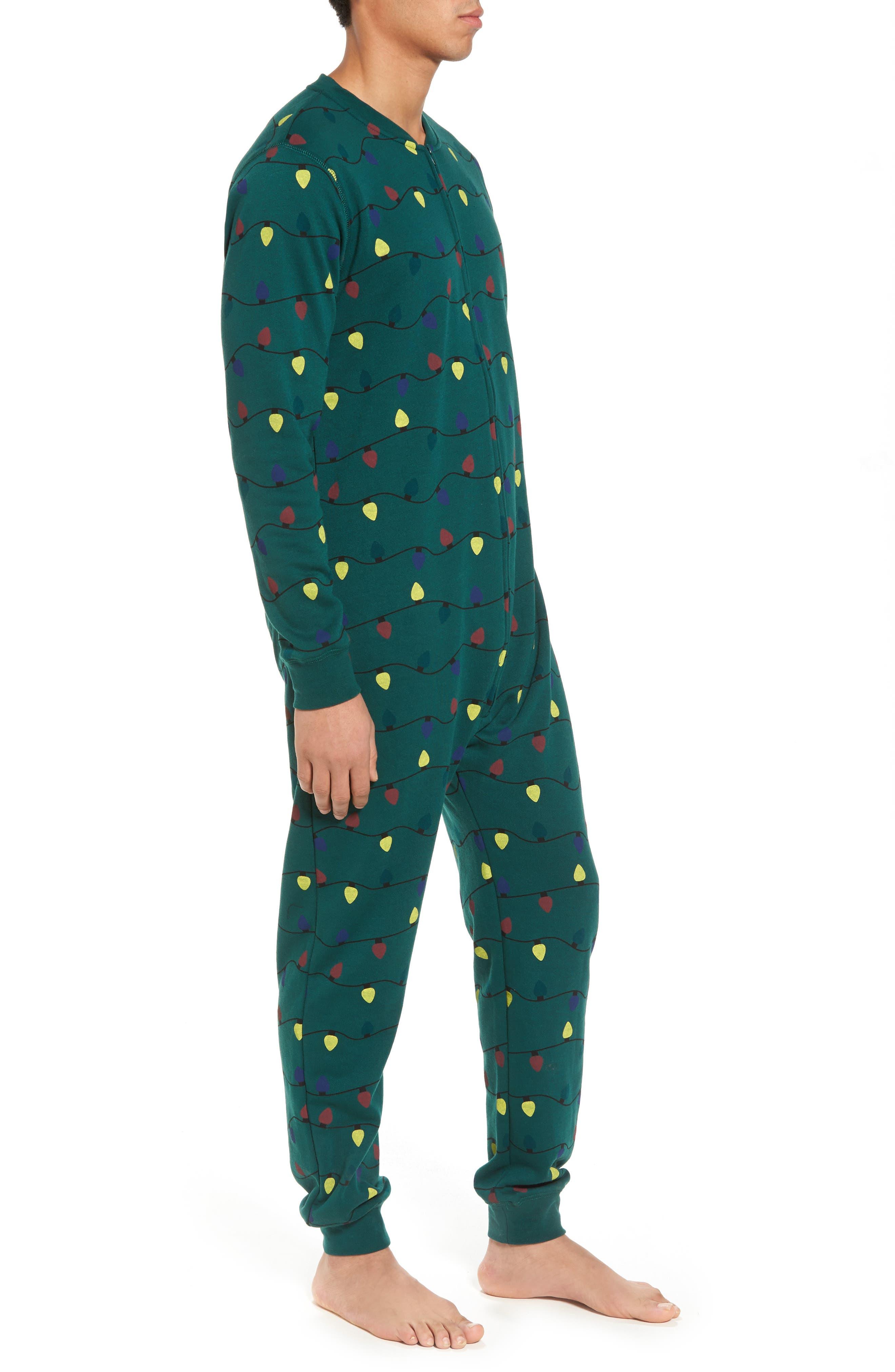 Fleece One-Piece Pajamas,                             Alternate thumbnail 14, color,