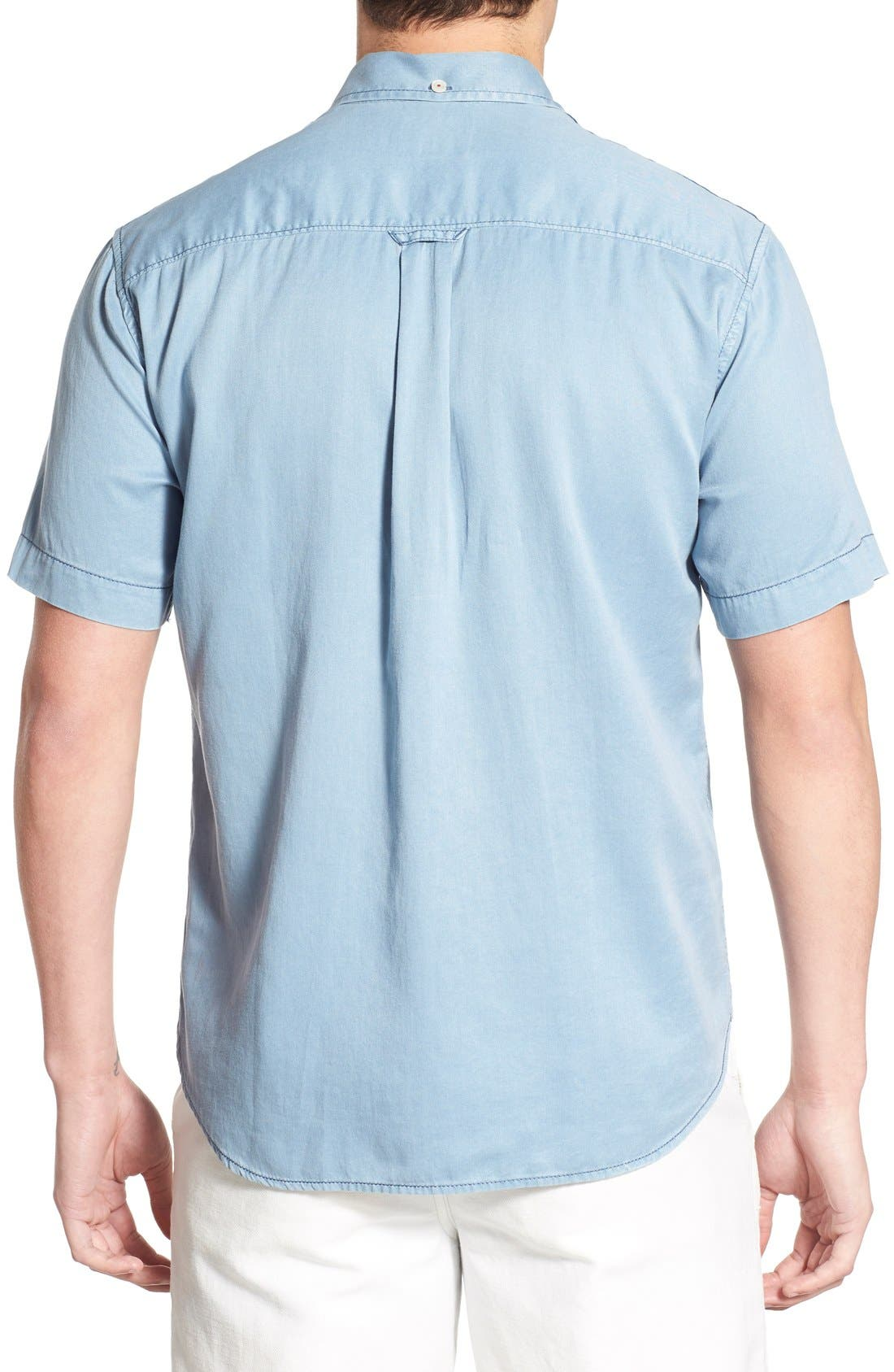 'New Twilly' Island Modern Fit Short Sleeve Twill Shirt,                             Alternate thumbnail 42, color,