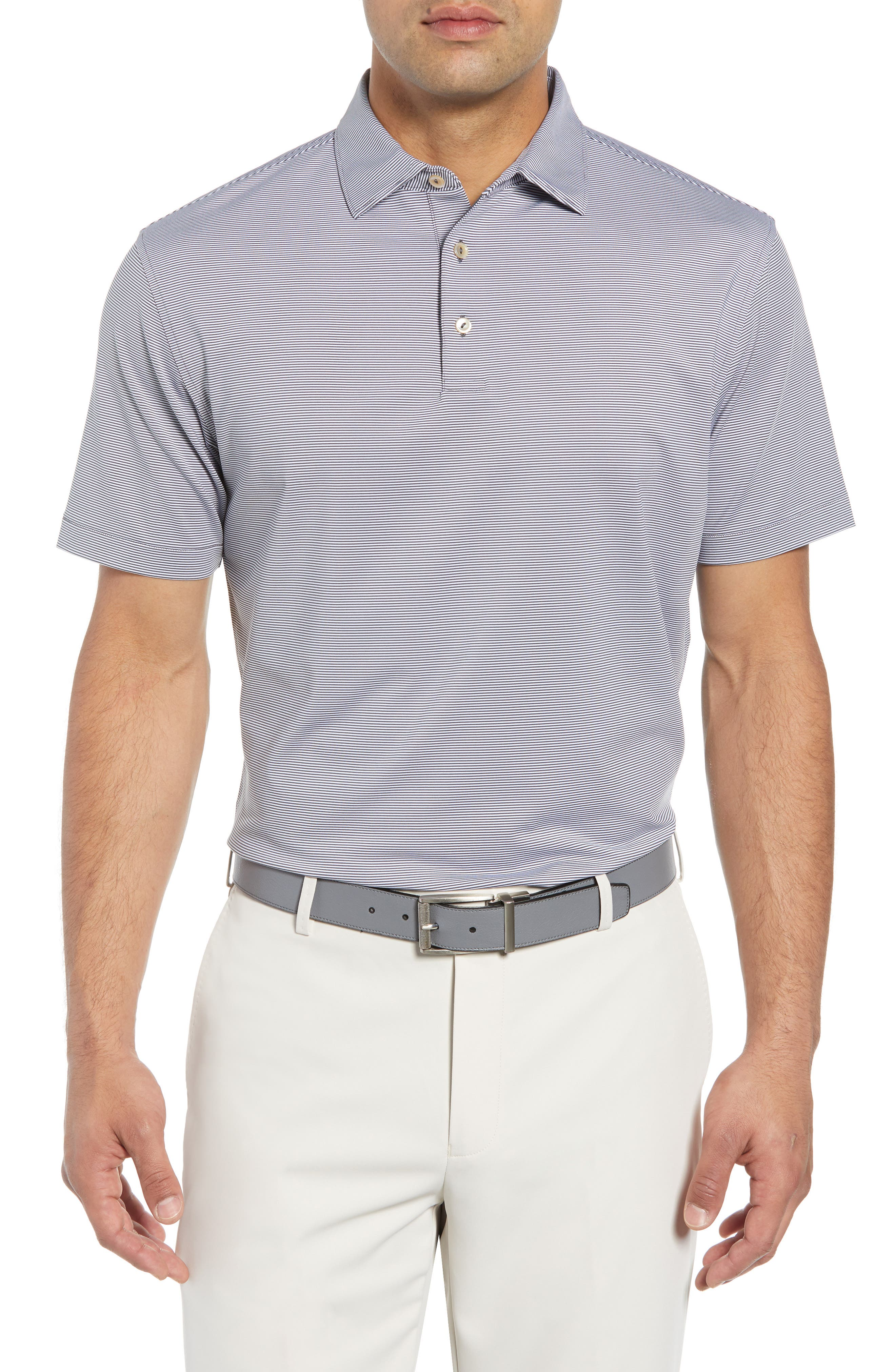 Jubilee Stripe Stretch Jersey Performance Polo,                         Main,                         color, 020