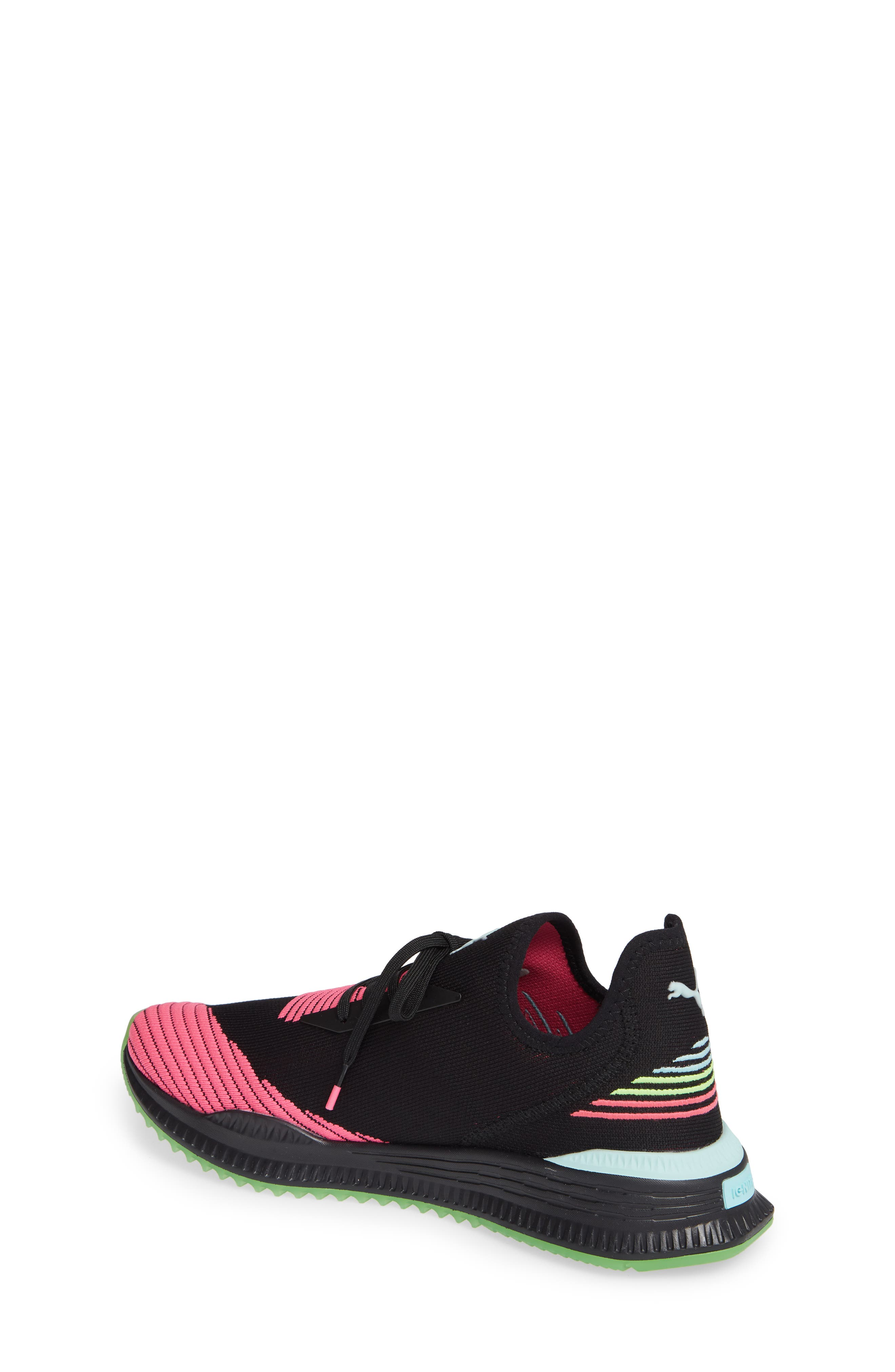 AVID EvoKNIT Sneaker,                             Alternate thumbnail 2, color,                             BLACK/ PINK/ ISLAND PARADISE