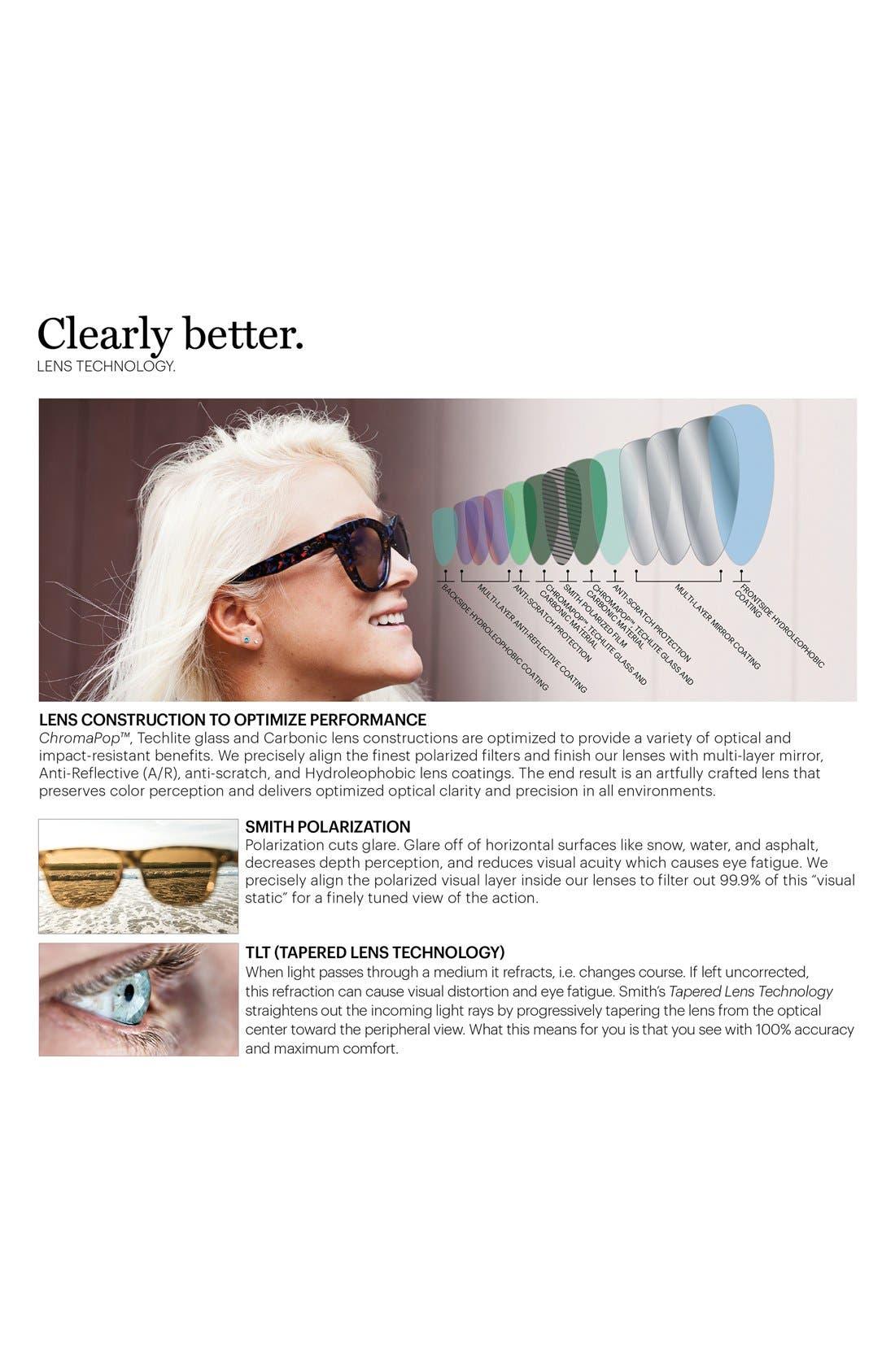 'Outlier XL' 56mm Polarized Sunglasses,                             Alternate thumbnail 3, color,                             MATTE BLACK
