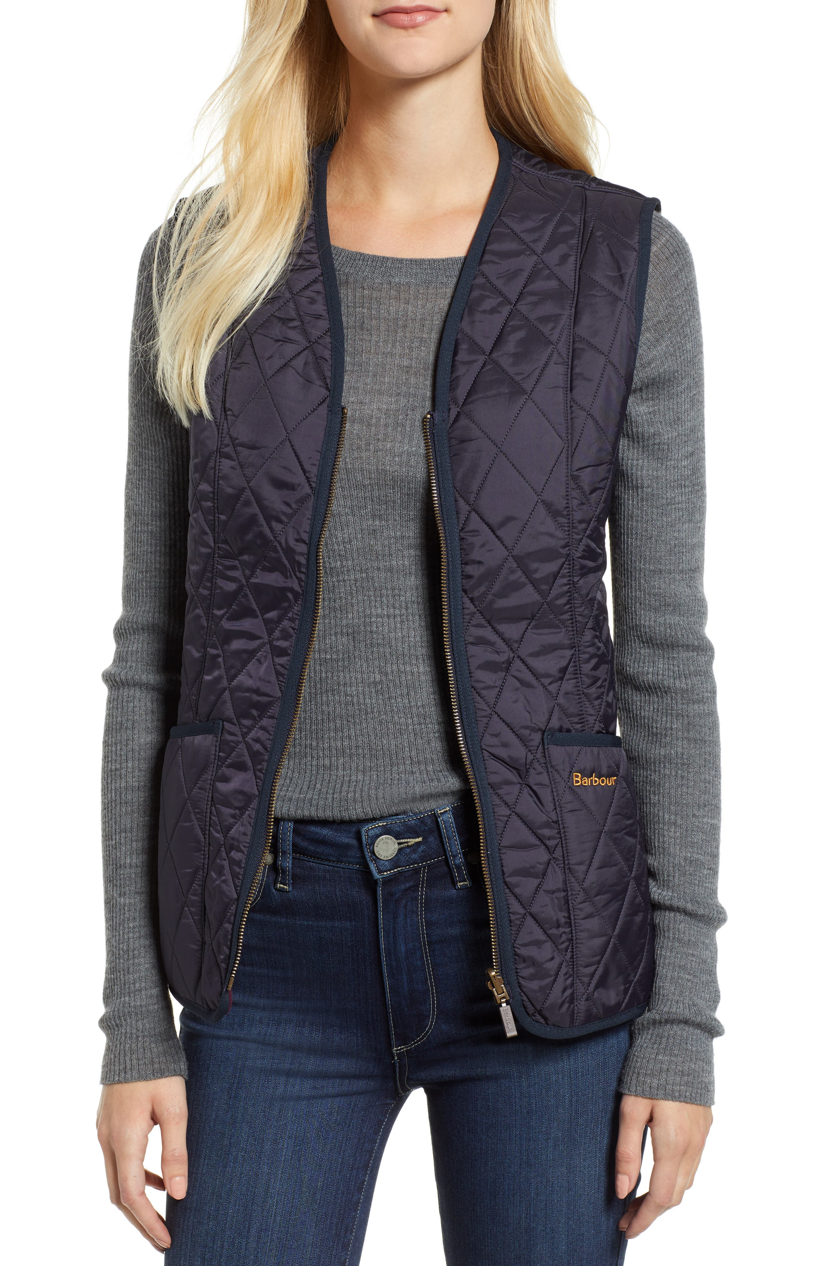 Barbour Betty Quilted Vest, US / 20 UK - Blue