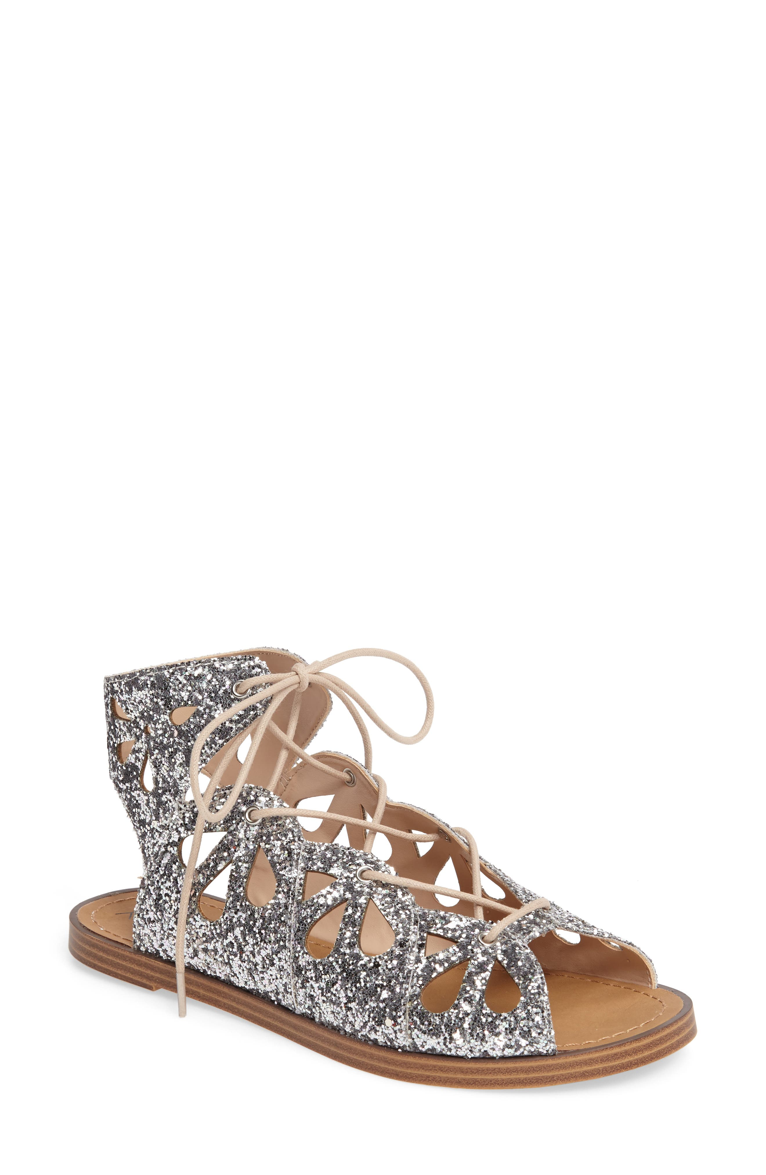 Lylia Glitter Sandal, Main, color, 040