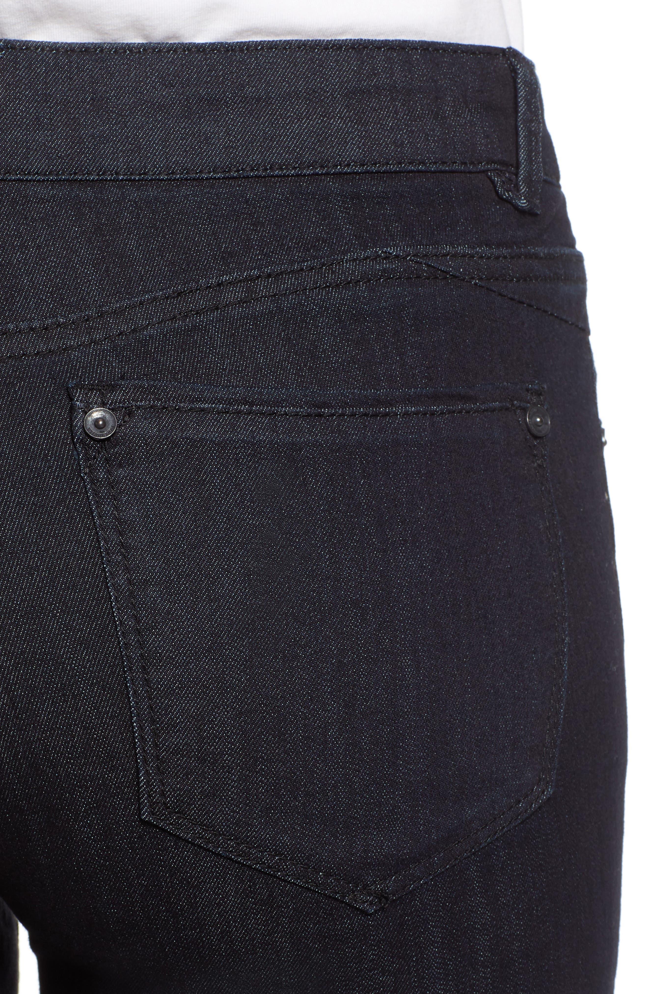 Ab-solution Ankle Skinny Jeans,                             Alternate thumbnail 4, color,                             INDIGO