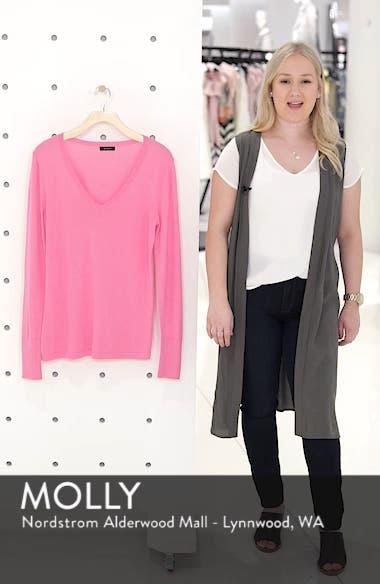 Cotton Blend V-Neck Sweater, sales video thumbnail