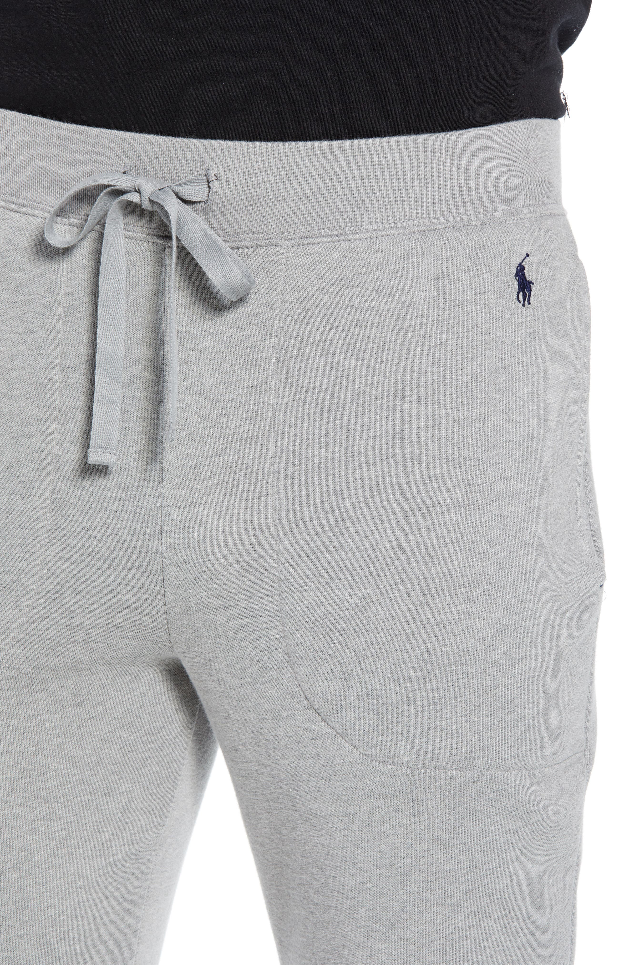 Brushed Jersey Cotton Blend Jogger Pants,                             Alternate thumbnail 4, color,                             ANDOVER HEATHER GREY
