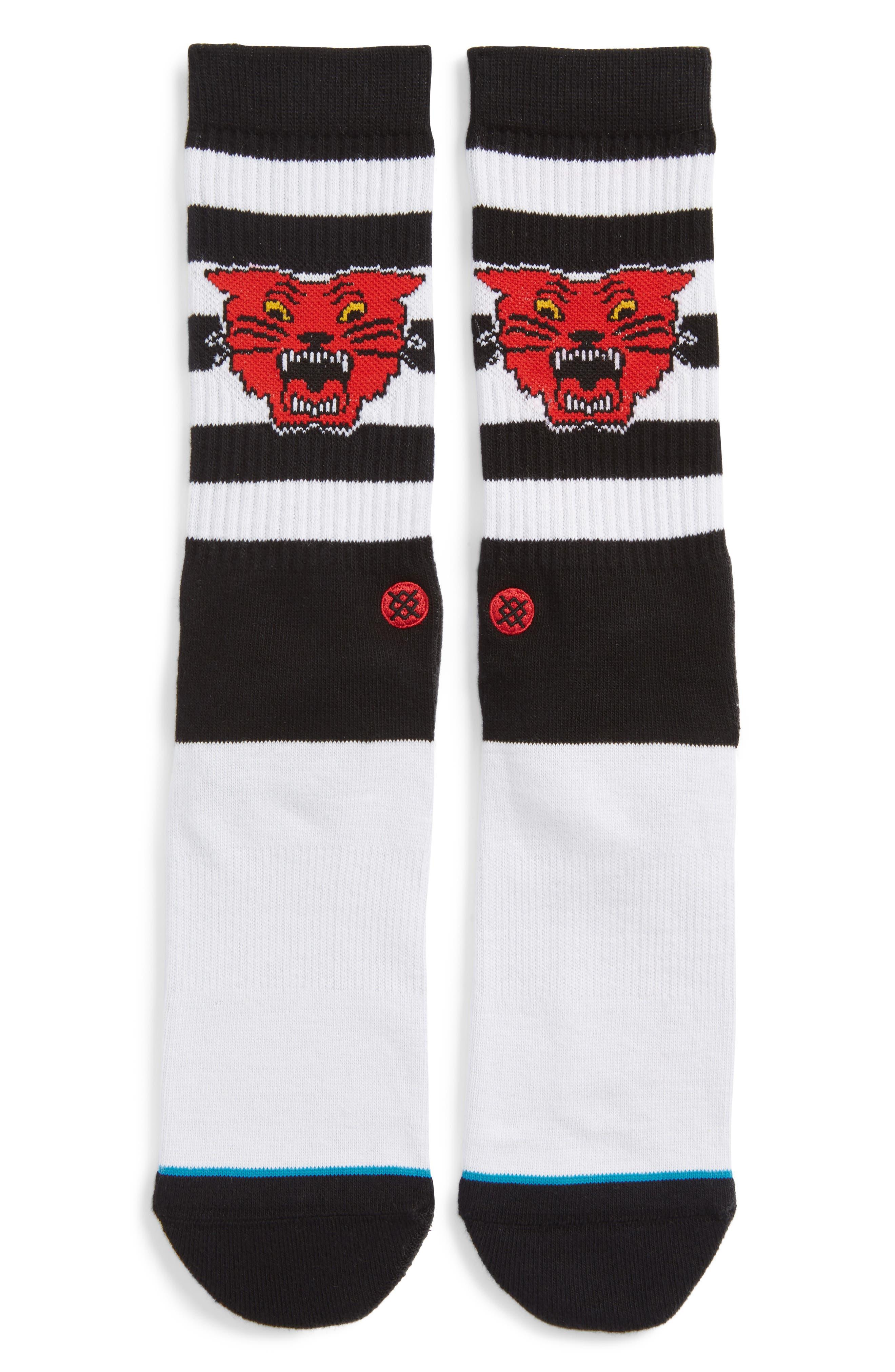 Bleacher Socks,                             Main thumbnail 1, color,                             BLACK