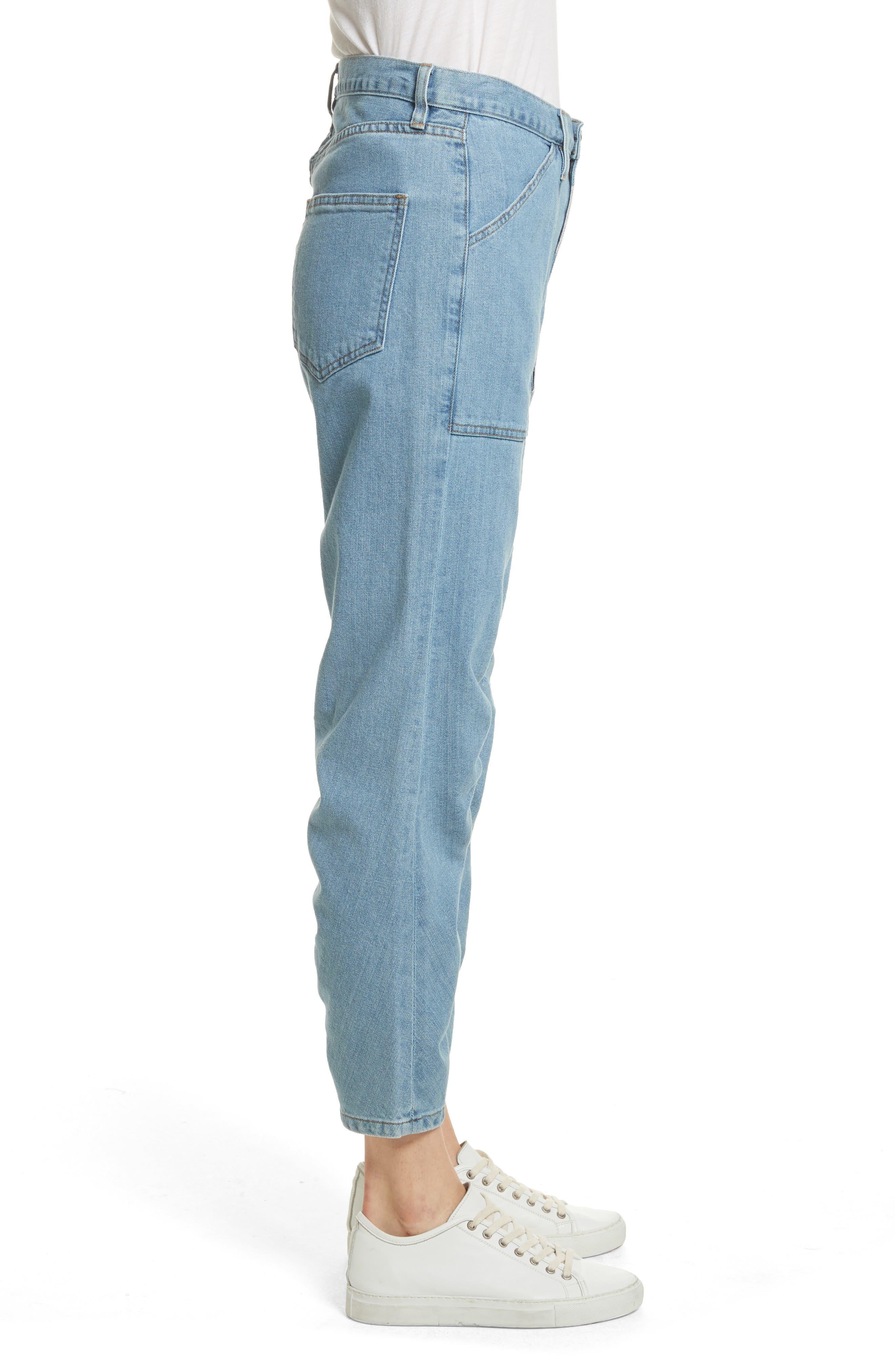 Le Ruche Crop Jeans,                             Alternate thumbnail 3, color,                             421