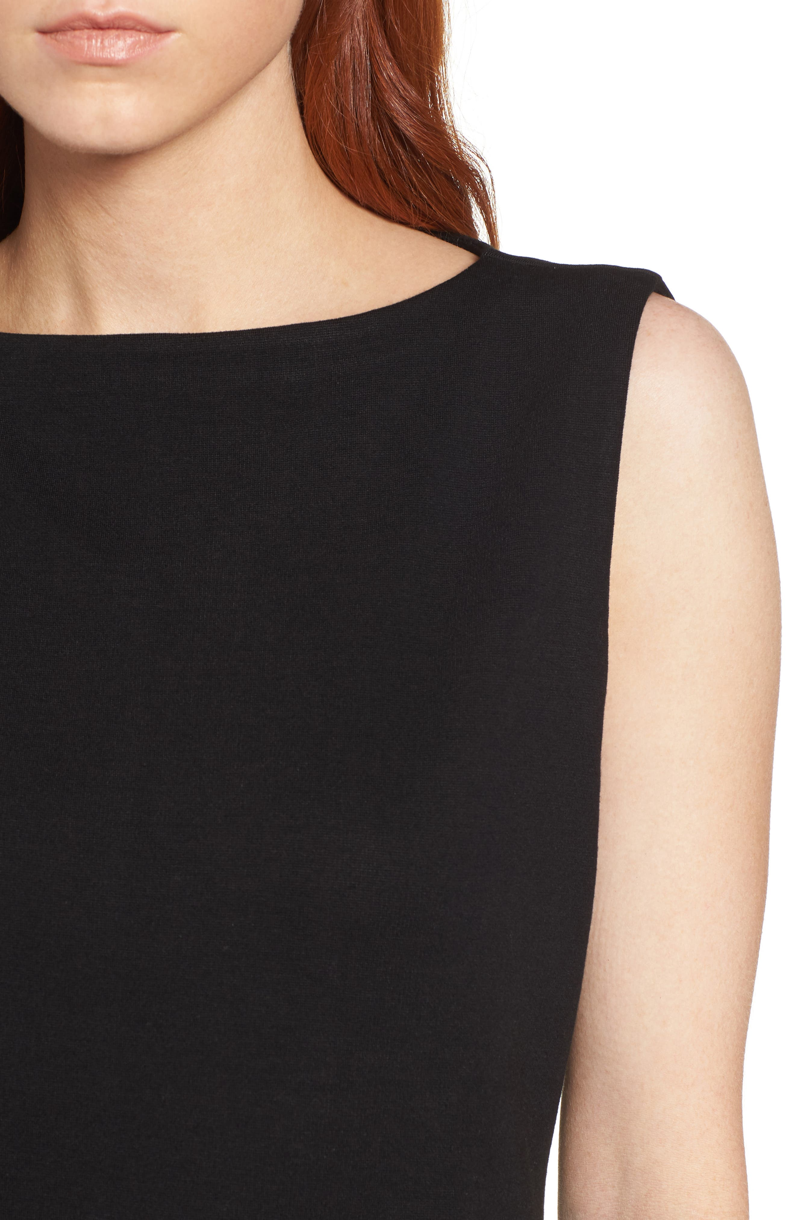 Tencel<sup>®</sup> Lyocell Blend Shift Dress,                             Alternate thumbnail 4, color,                             001
