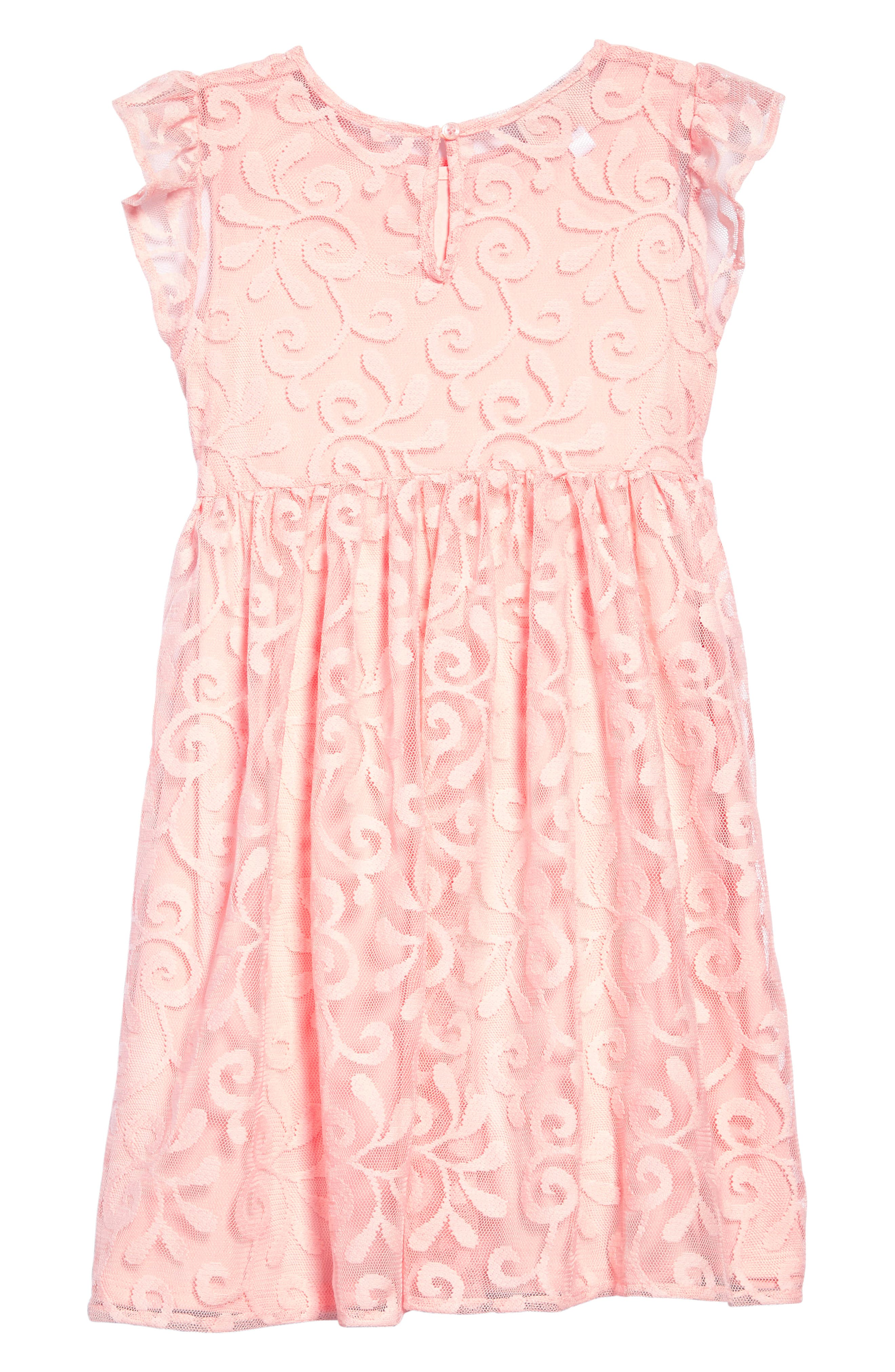 Embroidered Tulle Dress,                             Alternate thumbnail 2, color,                             811