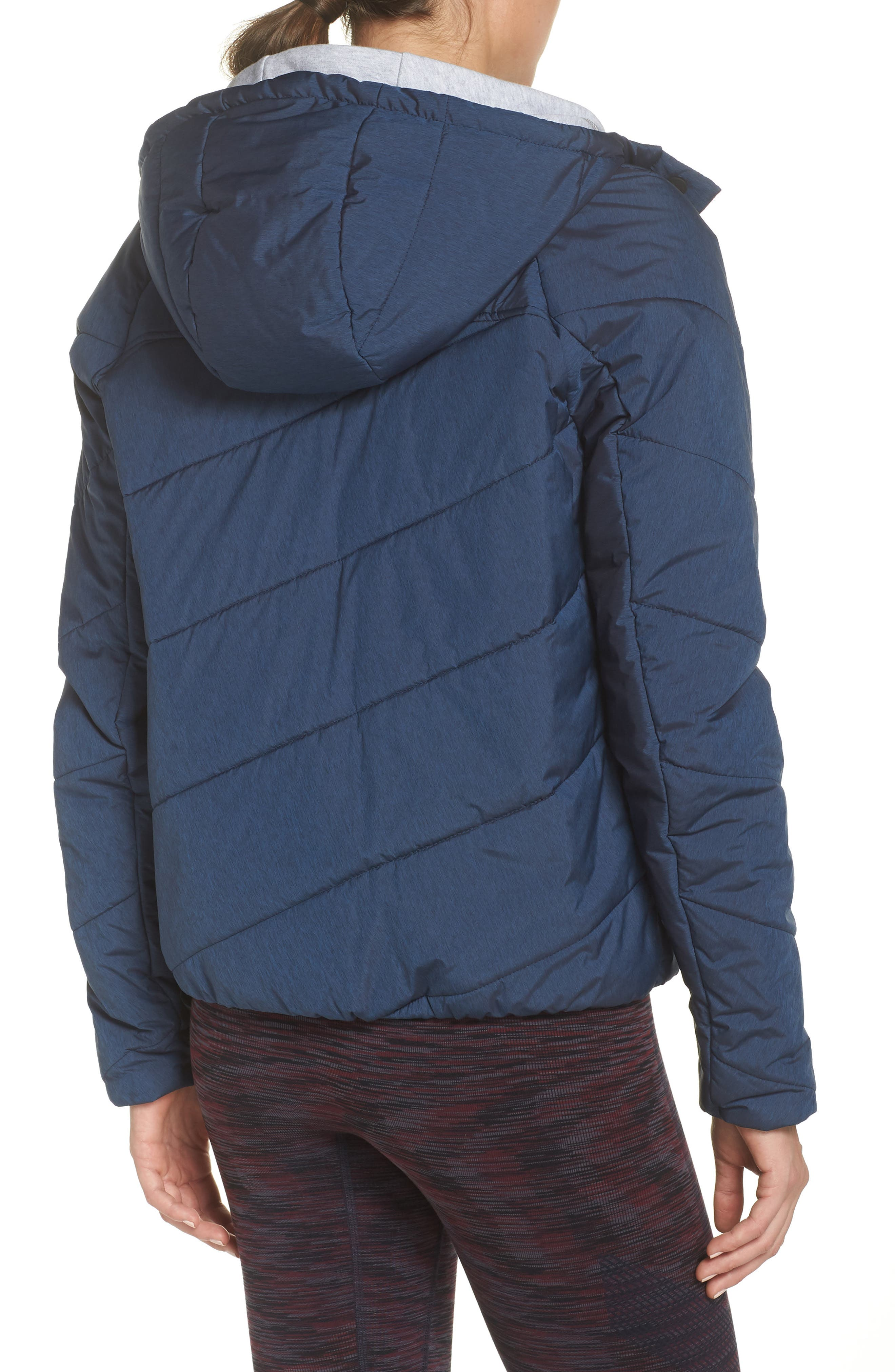 Toast Water Repellent Hooded Jacket,                             Alternate thumbnail 2, color,                             NAVY MARL