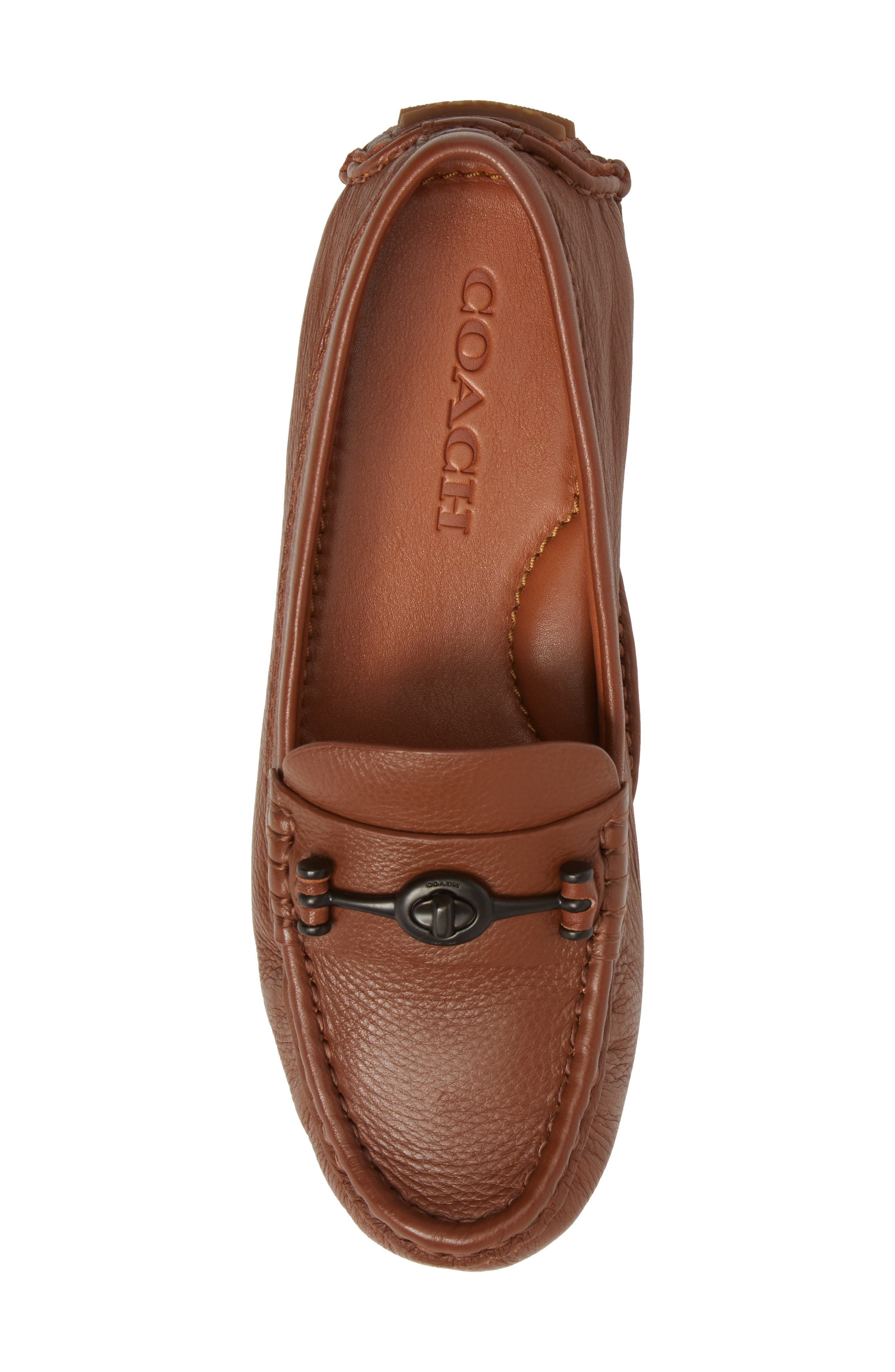 Crosby Driver Loafer,                             Alternate thumbnail 5, color,                             SADDLE LEATHER