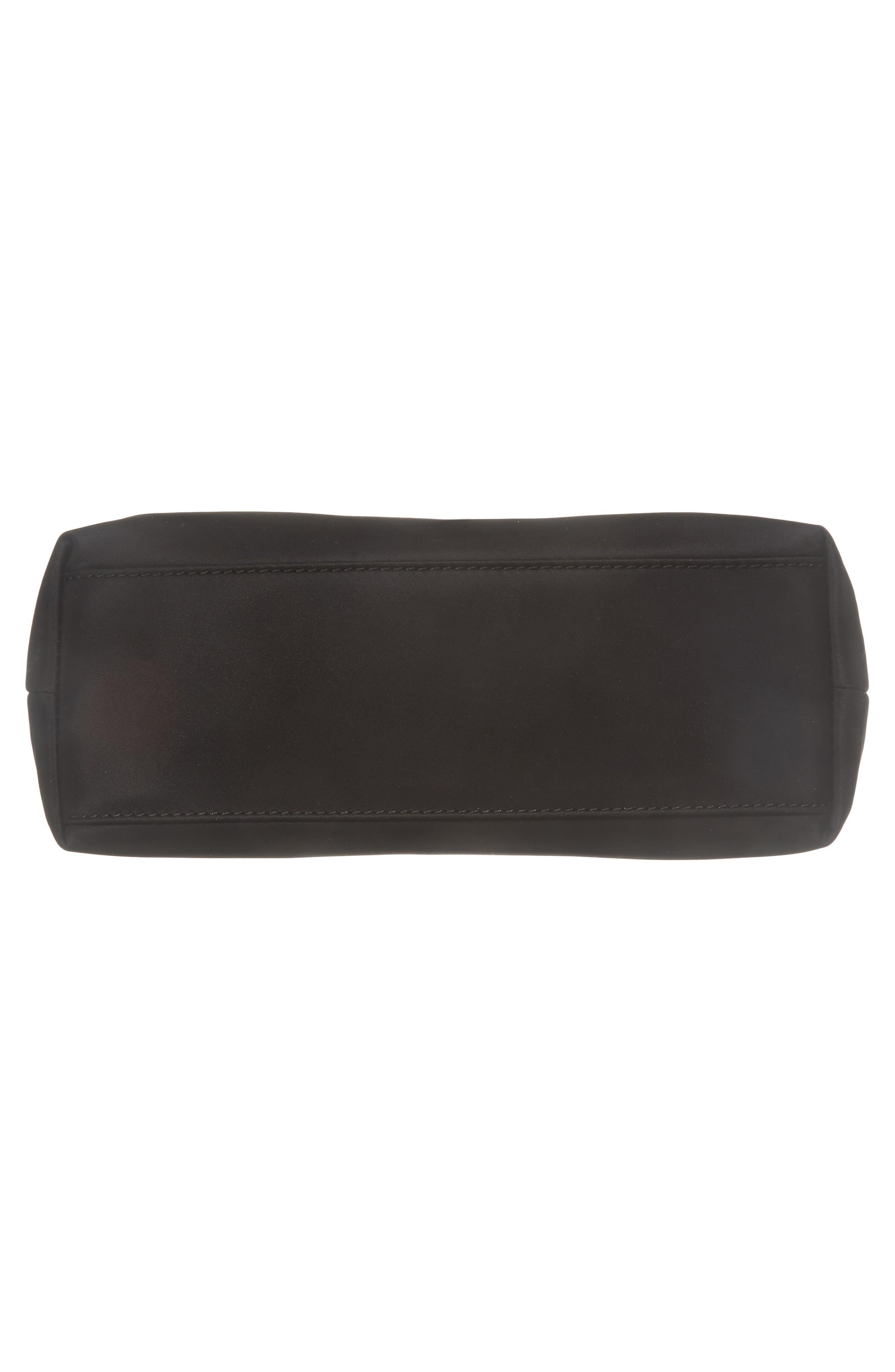 watson lane - lucie nylon crossbody bag,                             Alternate thumbnail 6, color,                             BLACK
