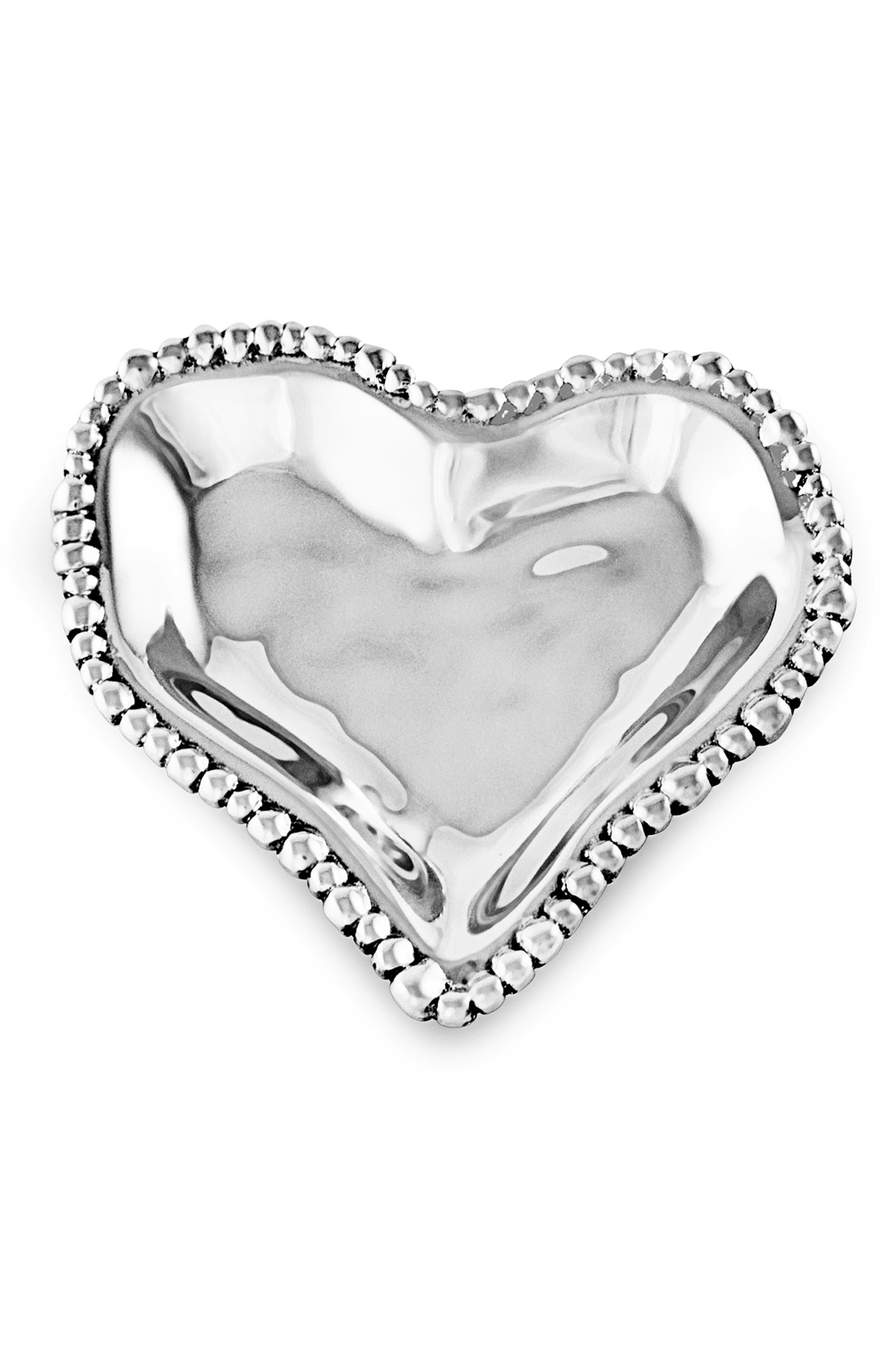 BEATRIZ BALL COLLECTION Small Organic Pearl Heart Dish, Main, color, SILVER