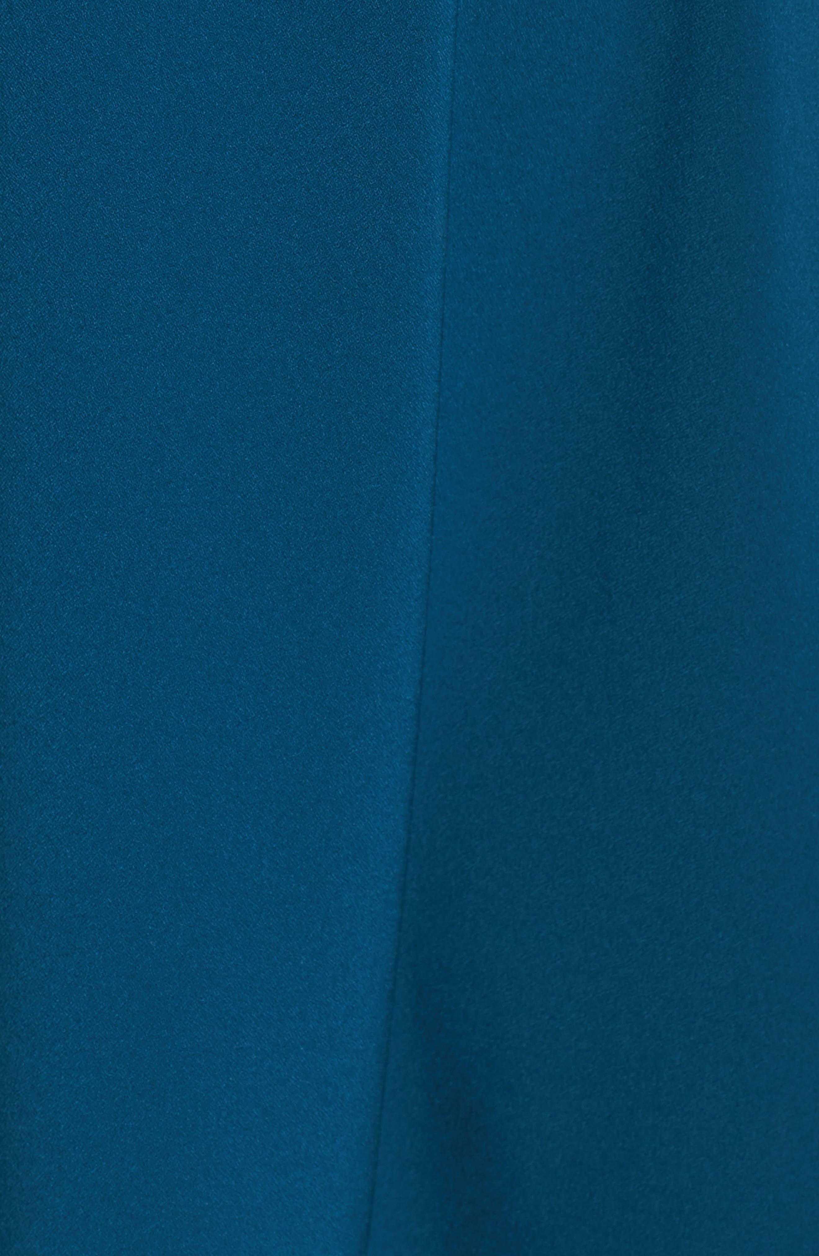 Tie Front Crepe Fit & Flare Dress,                             Alternate thumbnail 10, color,