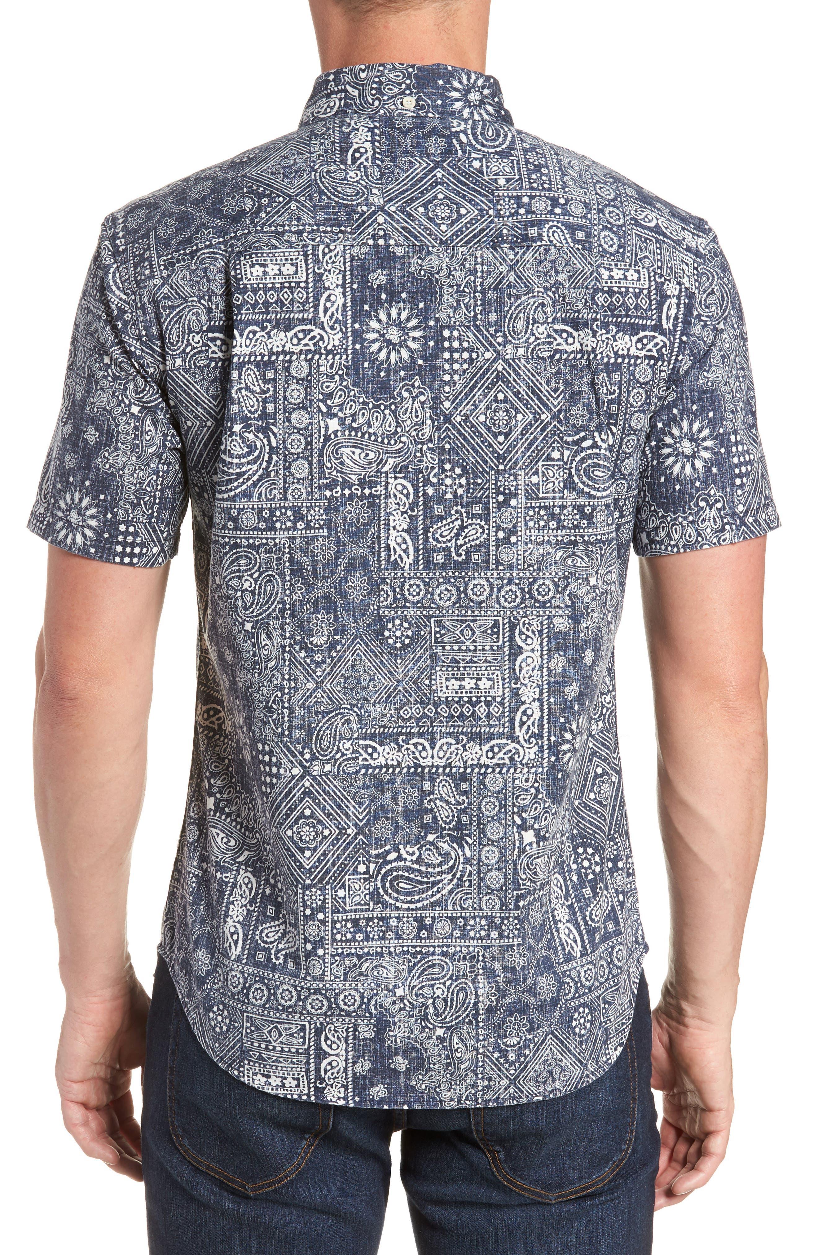 Aloha Bandana Regular Fit Sport Shirt,                             Alternate thumbnail 3, color,                             410