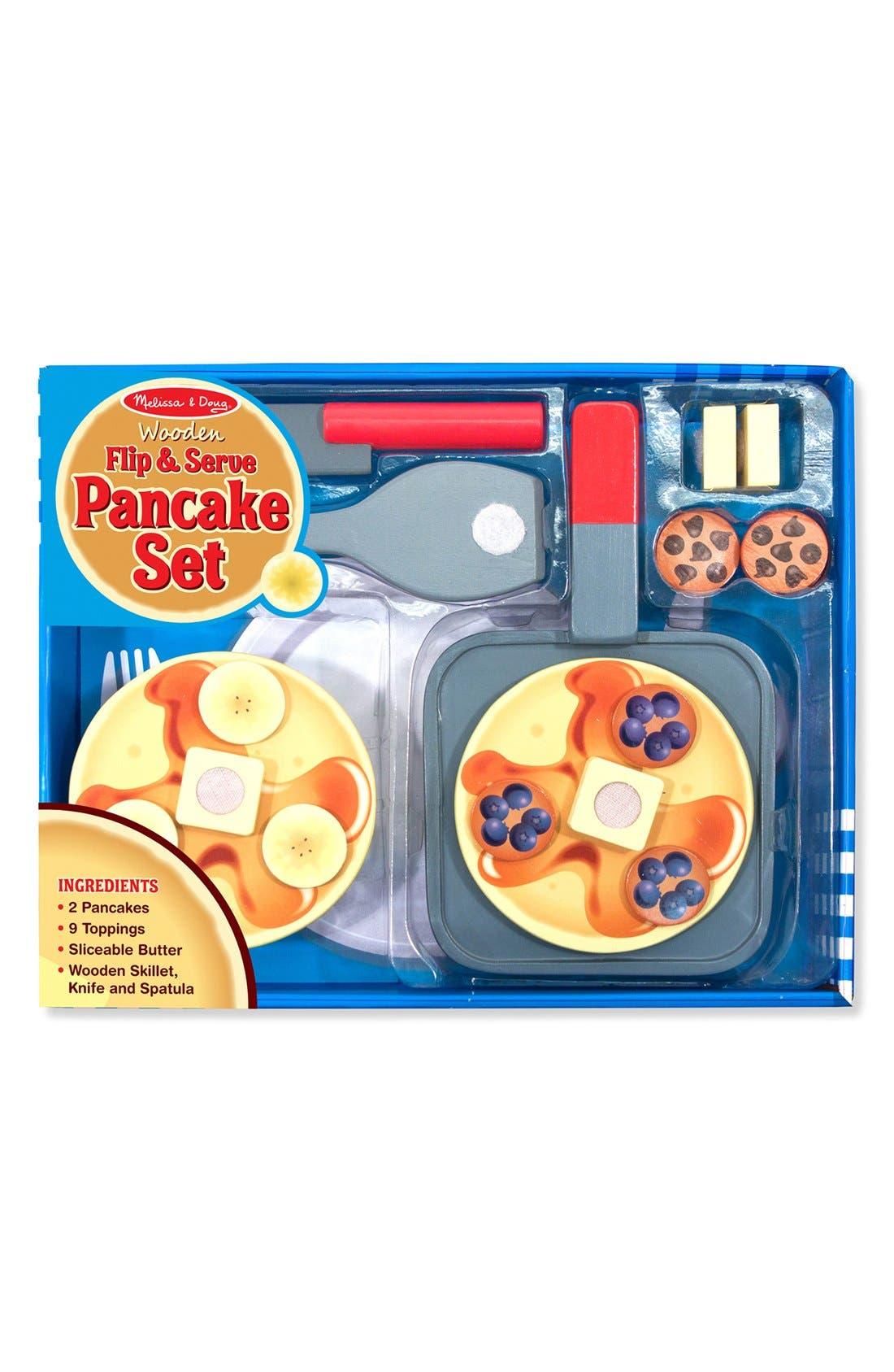 Toddler Melissa  Doug Flip  Serve Wooden Pancake Set