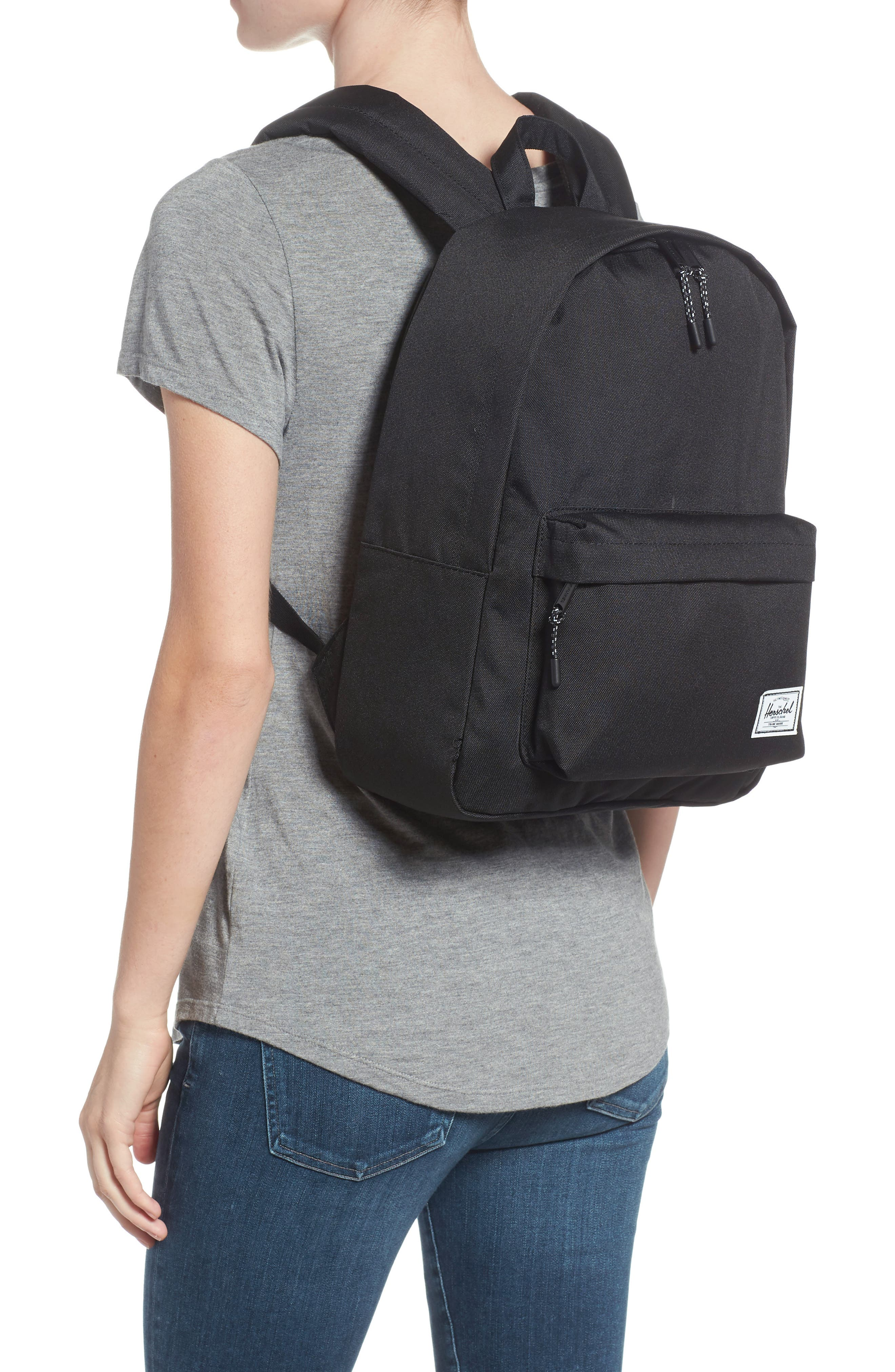 Classic Mid Volume Backpack,                             Alternate thumbnail 2, color,                             BLACK
