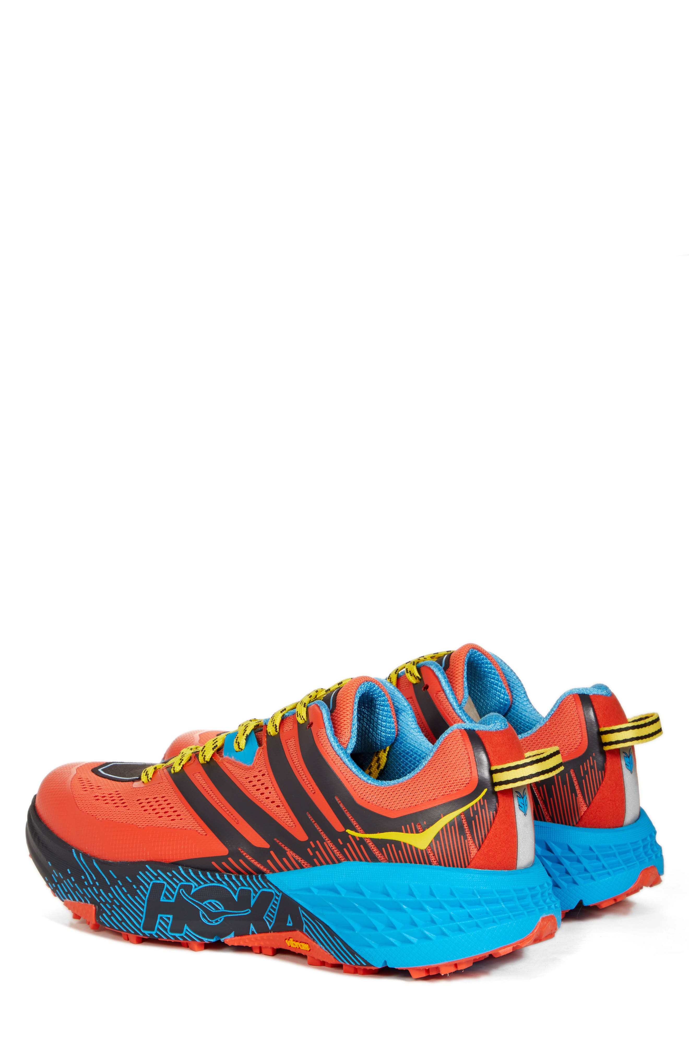 Speedgoat 3 Trail Running Shoe,                             Alternate thumbnail 3, color,                             NASTURTIUM/ SPICY ORANGE