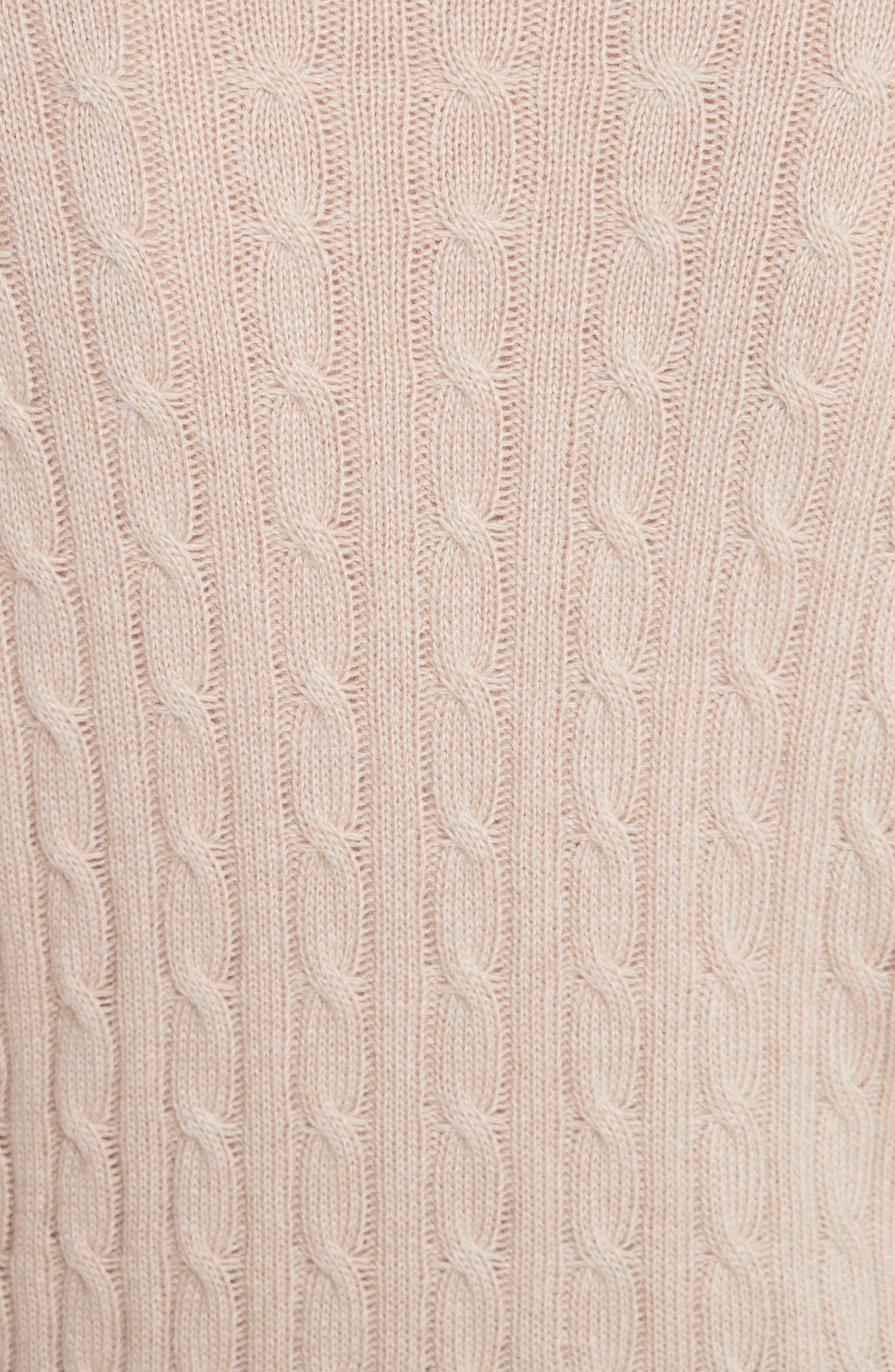 Printed Wool & Angora Blend Sweater,                             Alternate thumbnail 5, color,