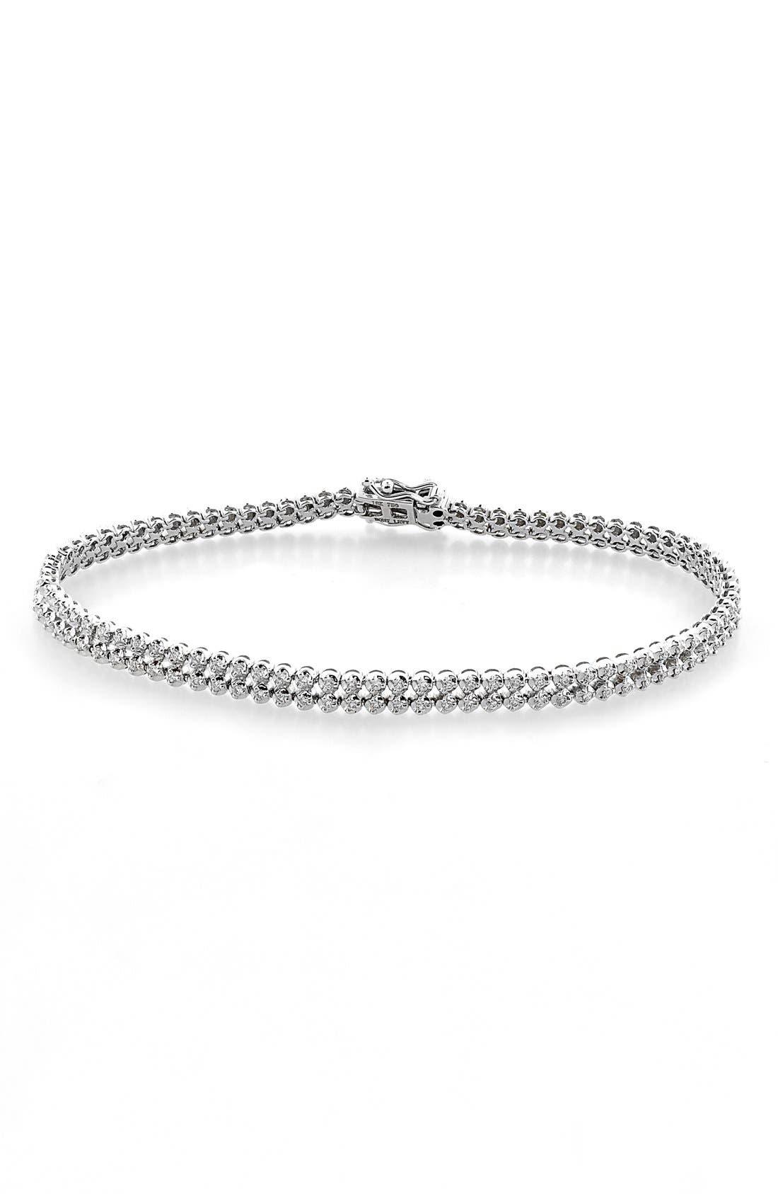 Diamond Line Bracelet,                         Main,                         color, WHITE GOLD