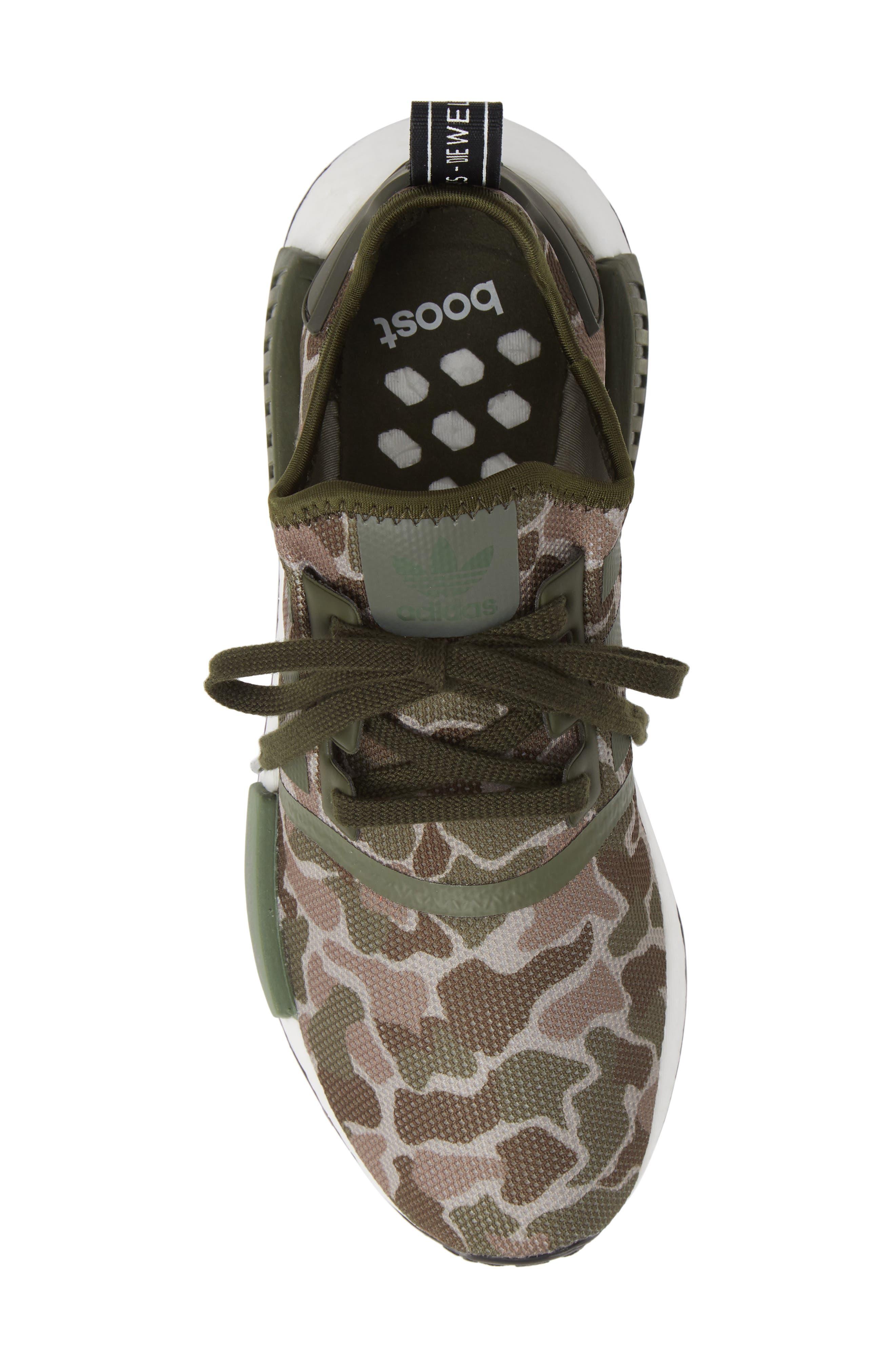 NMD R1 Camo Sneaker,                             Alternate thumbnail 5, color,                             305
