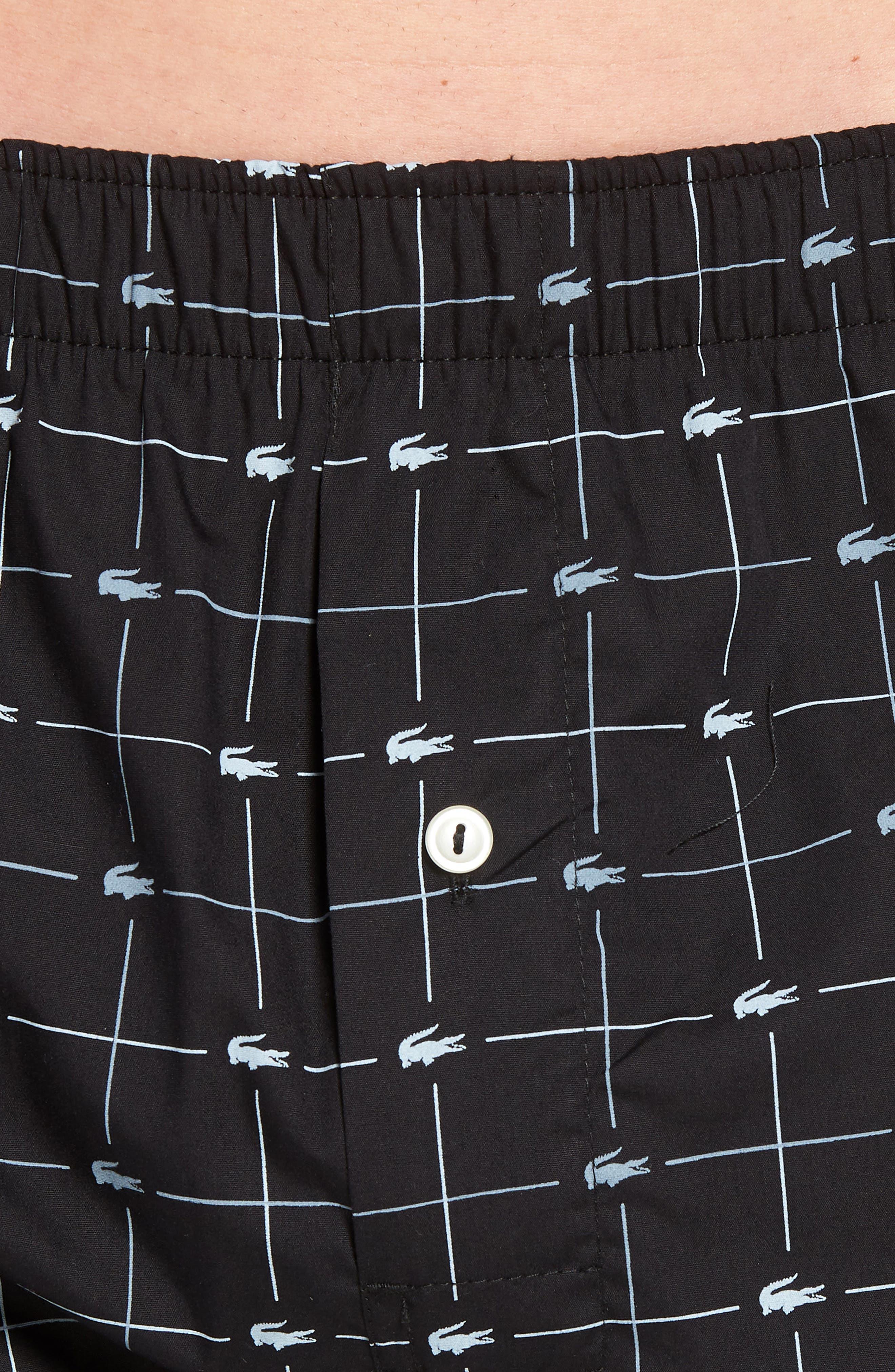 Cotton Boxers,                             Alternate thumbnail 4, color,                             BLACK/ GREY