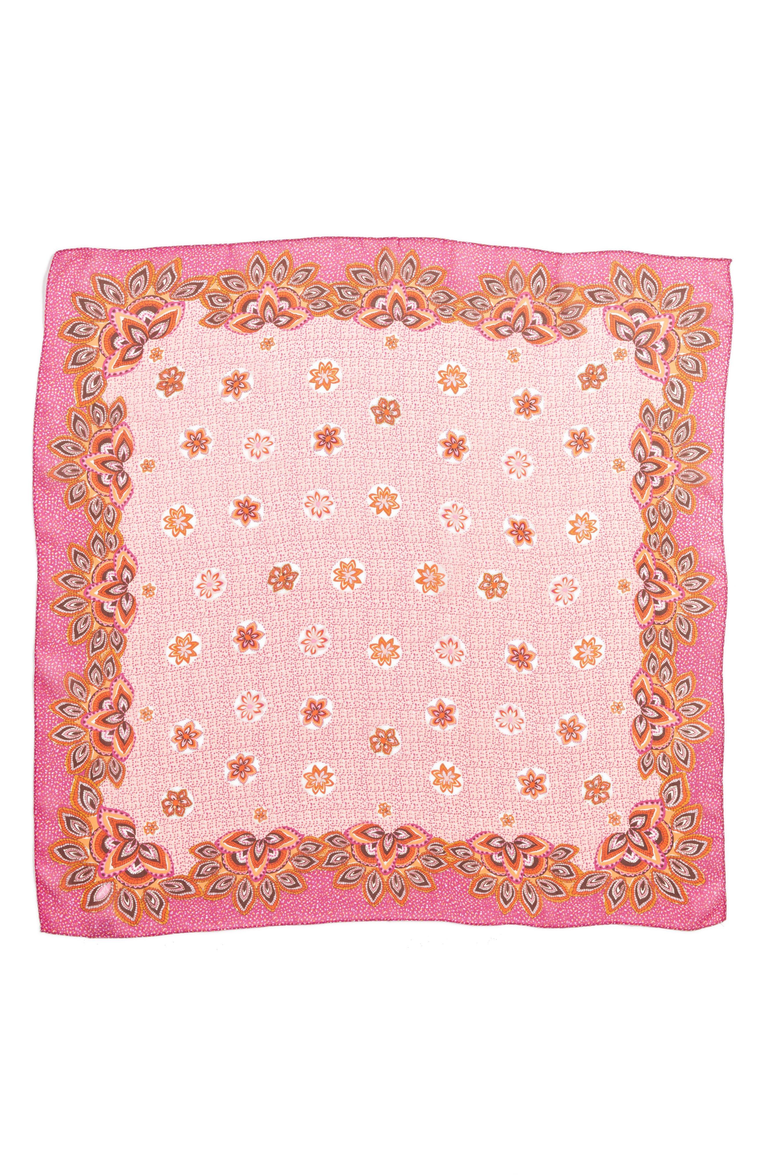 San Lazaro Silk Scarf,                             Alternate thumbnail 8, color,