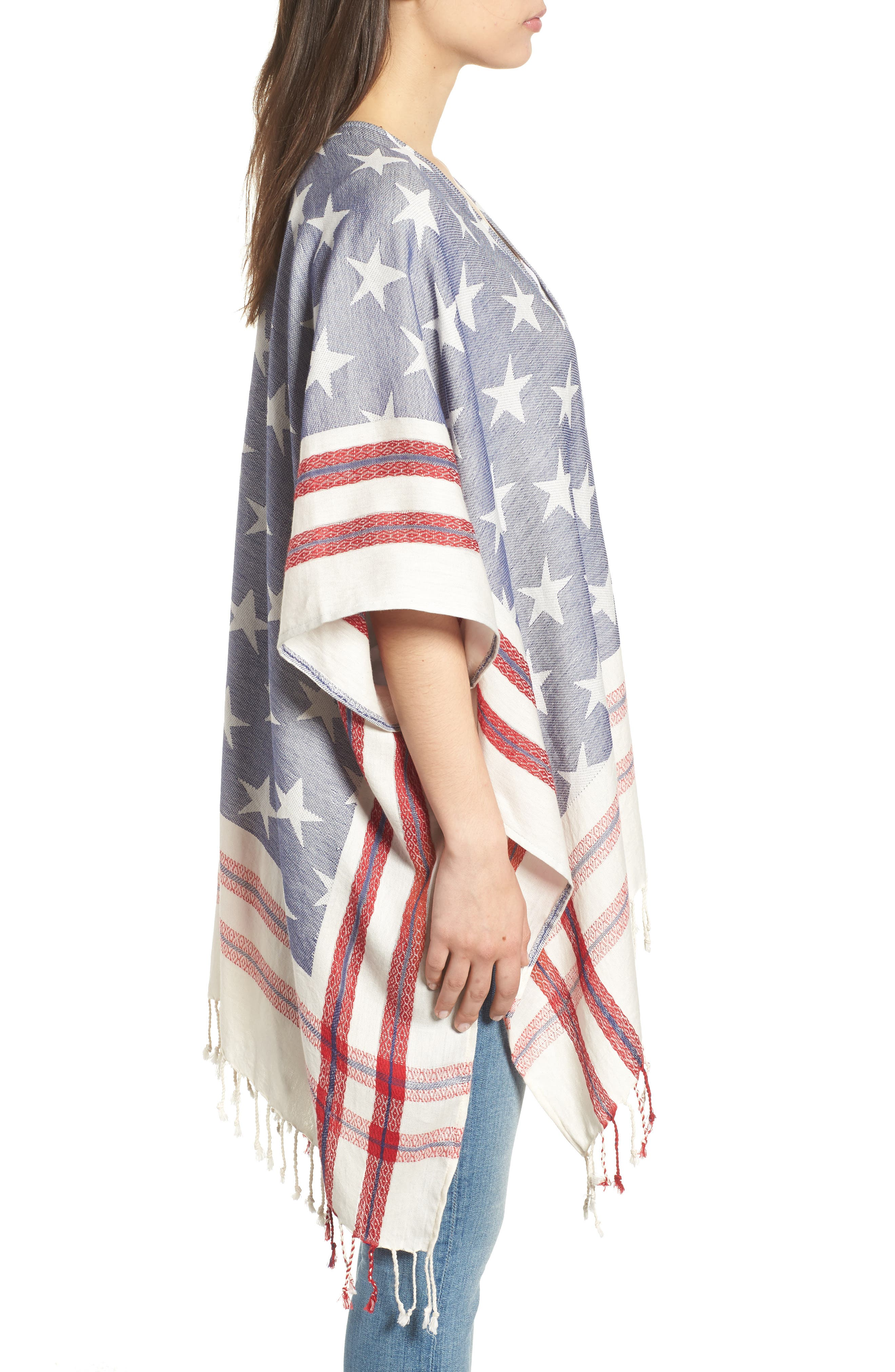 American Boho Jacquard Topper,                             Alternate thumbnail 3, color,                             400