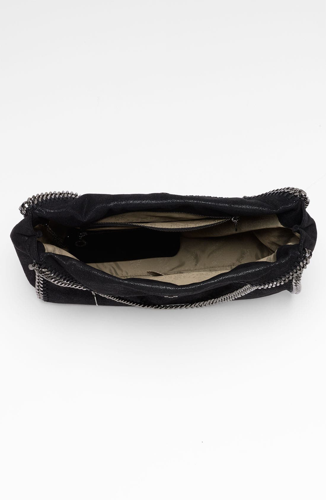 STELLA MCCARTNEY,                             'Large Falabella - Shaggy Deer' Faux Leather Tote,                             Alternate thumbnail 4, color,                             001