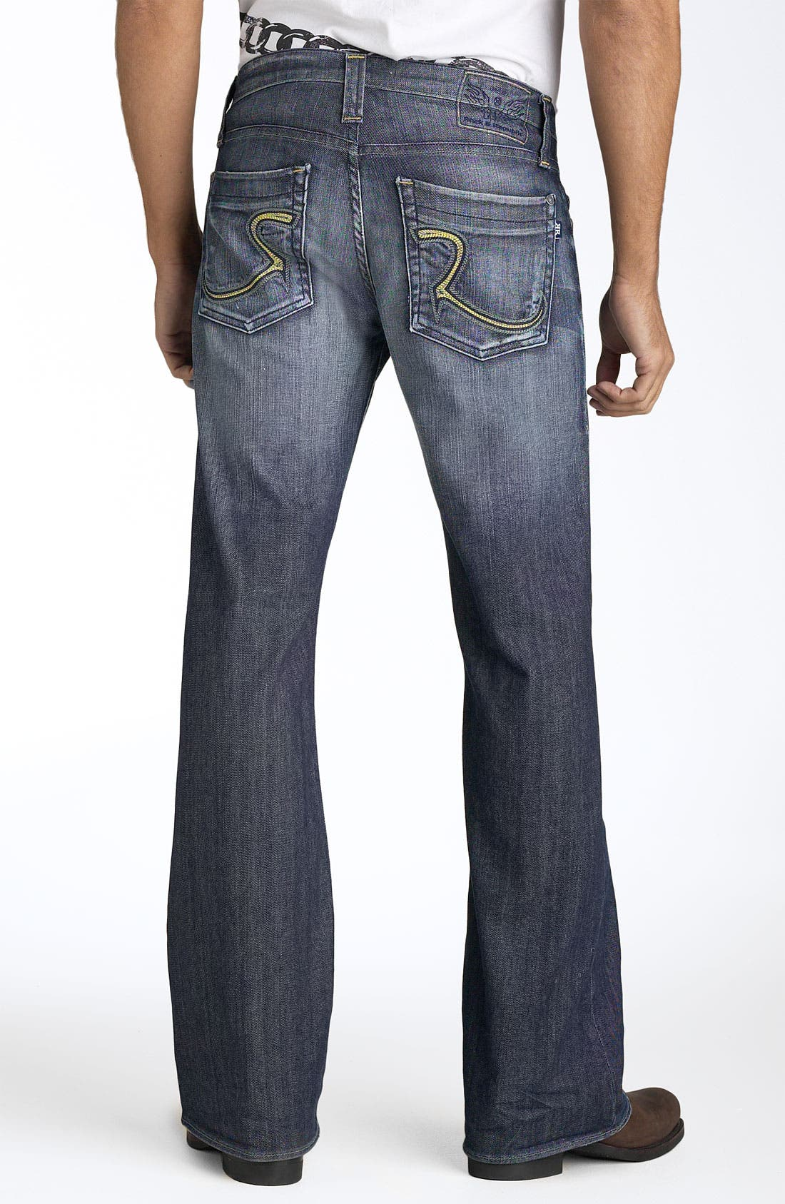 'Floyd' Relaxed Bootcut Jeans,                             Main thumbnail 1, color,                             420