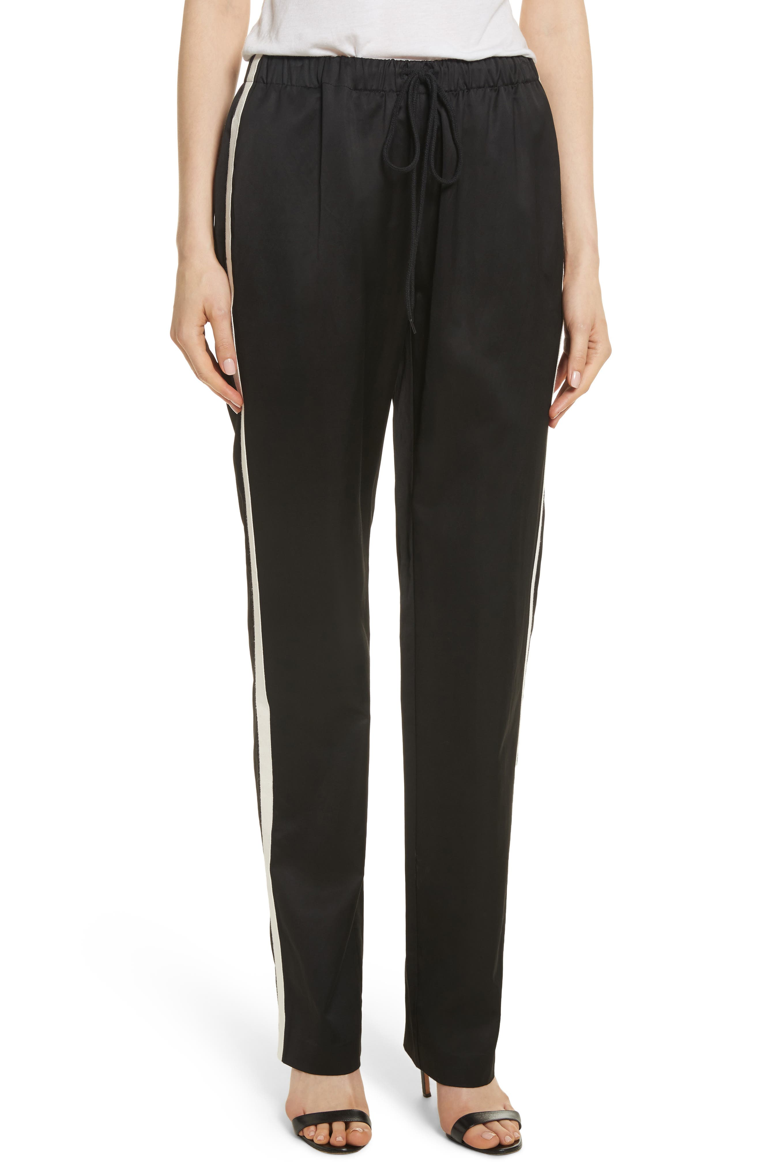 Satin Track Pants,                         Main,                         color, 001